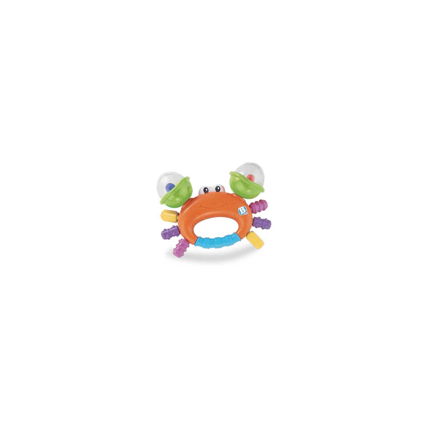 Игрушка Веселый краб, BKidsПрорезыватели необходимы детям, у которых режутся зубки. Они могут выглядеть очень симпатично! Эта игрушка представляет собой прорезыватель в виде краба, у него погремушки с цветными шариками в клешнях, а сами клешни крутятся.<br>Такие игрушки способствуют развитию мелкой моторики, воображения, цветовосприятия, тактильных ощущений. Изделие разработано специально для самых маленьких. Сделано из материалов, безопасных для детей.<br><br>Дополнительная информация:<br><br>цвет: разноцветный;<br>размеры игрушки: 14 х 10 х 4 см;<br>возраст: с рождения.<br><br>Игрушку Веселый краб от бренда BKids можно купить в нашем интернет-магазине.<br><br>Ширина мм: 114<br>Глубина мм: 114<br>Высота мм: 20<br>Вес г: 88<br>Возраст от месяцев: 0<br>Возраст до месяцев: 36<br>Пол: Унисекс<br>Возраст: Детский<br>SKU: 5055397