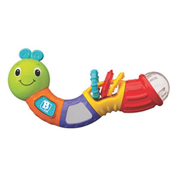 Игрушка Веселая гусеничка, BKidsИгрушки для новорожденных<br>Развивать способности ребенка можно с самого раннего возраста. Делая это в игре, малыш всесторонне изучает мир и осваивает новые навыки. Эта игрушка представляет собой погремушку в виде гусеницы с прорезывателем и звуковыми эффектами. <br>Такие игрушки способствуют развитию мелкой моторики, воображения, цвето- и звуковосприятия, тактильных ощущений и обучению. Изделие разработано специально для самых маленьких. Сделано из материалов, безопасных для детей.<br><br>Дополнительная информация:<br><br>цвет: разноцветный;<br>с прорезывателями;<br>возраст: с 3 мес.<br><br>Игрушку Веселая гусеничка от бренда BKids можно купить в нашем интернет-магазине.<br><br>Ширина мм: 65<br>Глубина мм: 65<br>Высота мм: 210<br>Вес г: 300<br>Возраст от месяцев: 3<br>Возраст до месяцев: 36<br>Пол: Унисекс<br>Возраст: Детский<br>SKU: 5055400