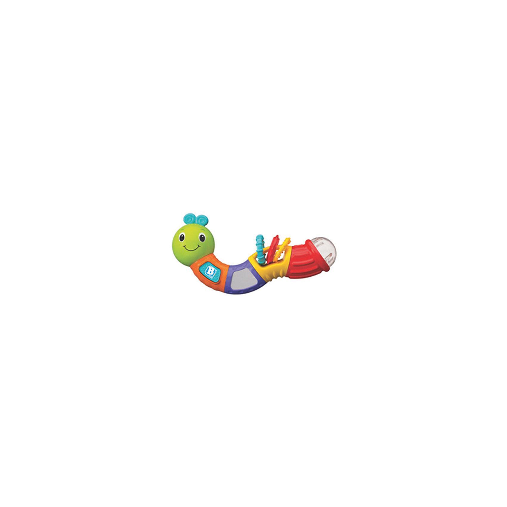 Игрушка Веселая гусеничка, BKidsРазвивающие игрушки<br>Развивать способности ребенка можно с самого раннего возраста. Делая это в игре, малыш всесторонне изучает мир и осваивает новые навыки. Эта игрушка представляет собой погремушку в виде гусеницы с прорезывателем и звуковыми эффектами. <br>Такие игрушки способствуют развитию мелкой моторики, воображения, цвето- и звуковосприятия, тактильных ощущений и обучению. Изделие разработано специально для самых маленьких. Сделано из материалов, безопасных для детей.<br><br>Дополнительная информация:<br><br>цвет: разноцветный;<br>с прорезывателями;<br>возраст: с 3 мес.<br><br>Игрушку Веселая гусеничка от бренда BKids можно купить в нашем интернет-магазине.<br><br>Ширина мм: 65<br>Глубина мм: 65<br>Высота мм: 210<br>Вес г: 300<br>Возраст от месяцев: 3<br>Возраст до месяцев: 36<br>Пол: Унисекс<br>Возраст: Детский<br>SKU: 5055400