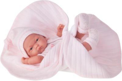 Кукла-младенец Карла в розовом одеяле, 26 см, Munecas Antonio Juan