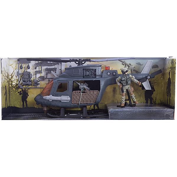Игровой набор Десантный вертолет, Chap MeiСолдатики, люди и рыцари<br>Игровой набор Десантный вертолет, Chap Mei.<br><br>Характеристики:<br><br>- цвет: разноцветный;<br>- материал: пластик, металл;<br>- особенности: дверь вертолета открывается;<br>- вес: 895 г;<br>- упаковка: коробка;<br>- размер упаковки: 45 x 43 x 17 см.<br><br>Игровой набор Десантный вертолет включает в себя все, что нужно для настоящего любителя и ценителя игровых военных действий. Набор состоит из вертолета, фигурки пилота и игровых аксессуаров. Двери вертолета открываются. Все элементы набора изготовлены из качественного пластика и тщательно детализированы. Игровой набор способствует развитию у ребенка воображения, внимания и мелкой моторики.<br><br>Игровой набор Десантный вертолет, Chap Mei можно купить в нашем интернет-магазине.<br>Ширина мм: 45; Глубина мм: 43; Высота мм: 16; Вес г: 895; Возраст от месяцев: 36; Возраст до месяцев: 2147483647; Пол: Мужской; Возраст: Детский; SKU: 5055434;