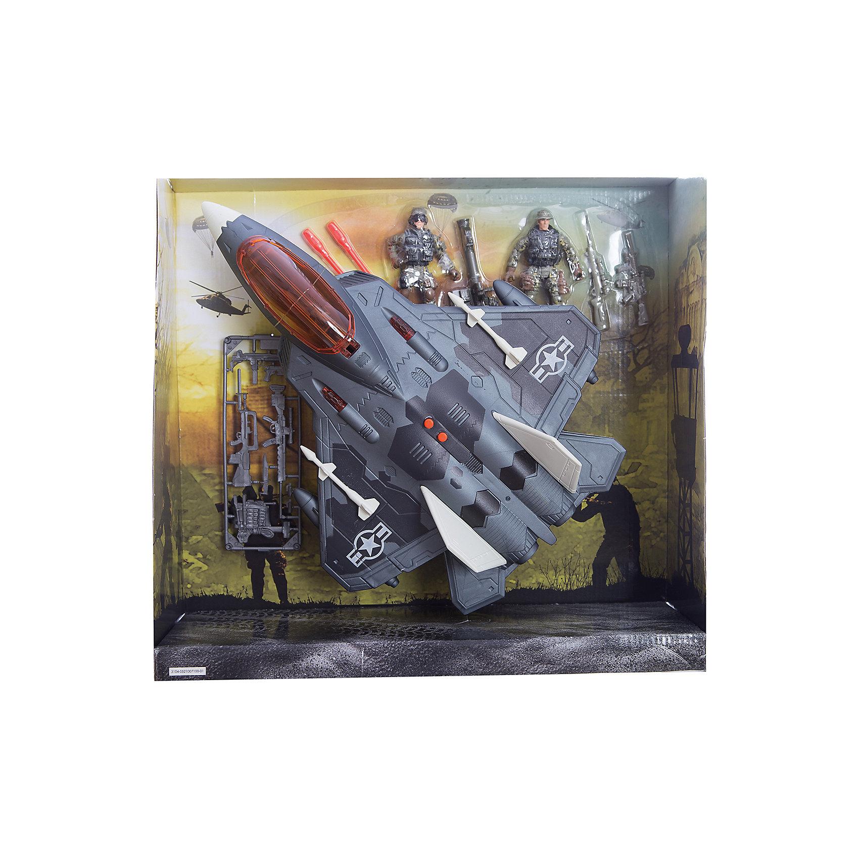 Игровой набор Фронтовой бомбардировщик, Chap MeiСолдатики и рыцари<br>Игровой набор Фронтовой бомбардировщик, Chap Mei.<br><br>Характеристики:<br><br>- цвет: разноцветный;<br>- материал: пластик, металл;<br>- работает на батарейках 3 x AG13;<br>- особенности: стреляет ракетами, световые и звуковые эффекты;<br>- вес: 1110 г;<br>- функция трай-ми;<br>- упаковка: коробка;<br>- размер упаковки: 41x13x38 см.<br><br>Игровой набор Фронтовой бомбардировщик, Chap Mei поможет ребенку погрузиться в увлекательный мир боевой техники и секретных спецопераций. В наборе есть фигурки вооруженных солдат, бомбардировщик со световыми и звуковыми эффектами, оснащенный пусковой установкой, которая вращается и стреляет ракетами. Все элементы набора изготовлены из качественного пластика и тщательно детализированы. Игровой набор способствует развитию у ребенка воображения, внимания и мелкой моторики.<br><br>Игровой набор Фронтовой бомбардировщик, Chap Mei можно купить в нашем интернет-магазине.<br><br>Ширина мм: 41<br>Глубина мм: 12<br>Высота мм: 38<br>Вес г: 1110<br>Возраст от месяцев: 36<br>Возраст до месяцев: 2147483647<br>Пол: Мужской<br>Возраст: Детский<br>SKU: 5055438