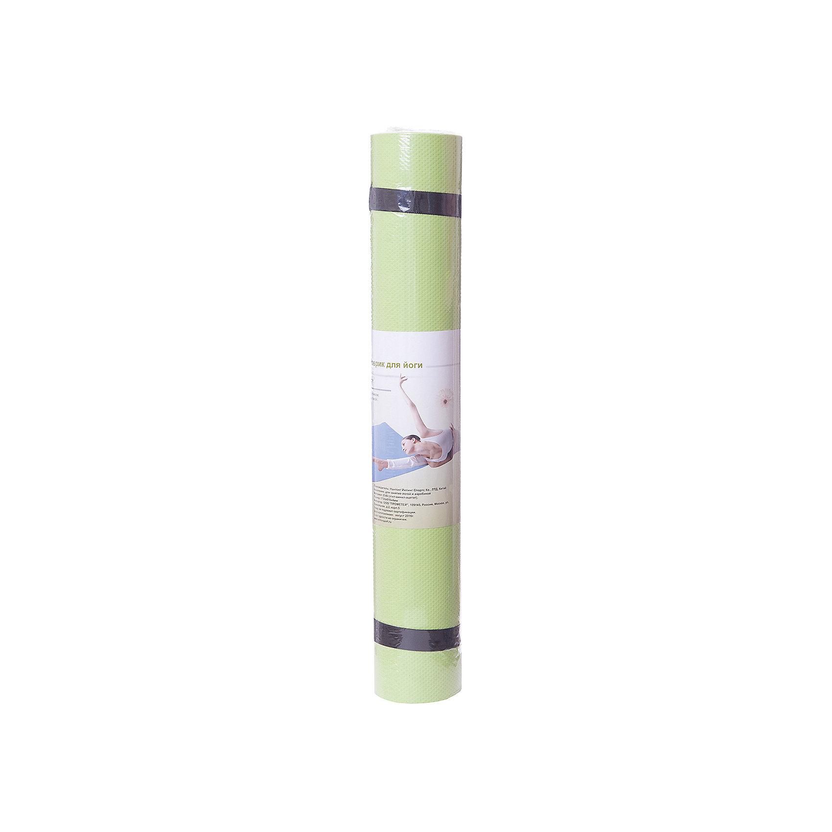 Коврик для йоги  ВВ8310, Z-SportsОсновные характеристики<br><br>Материал: EVA (этил-винил-ацетат)<br>Размер: 173х61х0,4см<br>Вес: 0,38кг<br>Цвета в ассортименте (фиолетовый, салатовый, голубой)<br>Вид применения: для занятий йогой, фитнесом, гимнастикой и аэробикой<br>Страна-производитель: Китай<br>Упаковка: термоусадочная пленка с цветным постером<br><br>Изделие изготовлено из современного материала, мягкого, но одновременно достаточно прочного, способного выдержать сильные механические нагрузки. Его эстетические параметры вполне соответствуют современным требованиям. Применяется для занятий йогой, фитнесом и аэробикой как в домашних условиях, так и в спортзалах. <br><br>Преимущества коврика BB8310:<br>- противоскользящая поверхность;<br>- оптимальный размер и вес;<br>- приятный современный дизайн и расцветка;<br>- его легко мыть и хранить, скатав в рулон.<br><br>Ширина мм: 100<br>Глубина мм: 100<br>Высота мм: 610<br>Вес г: 300<br>Возраст от месяцев: 36<br>Возраст до месяцев: 192<br>Пол: Унисекс<br>Возраст: Детский<br>SKU: 5056611