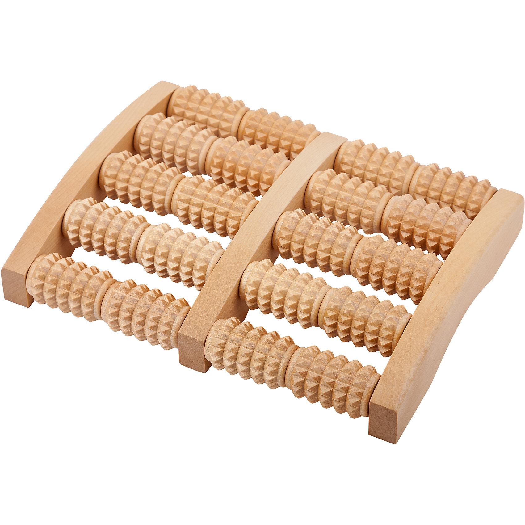 Массажер для ног, ТимбэМассажеры<br>Основные характеристики<br><br>Размер: 47*247*191мм<br>Материал: береза<br>Цвет: натуральная древесина<br>Страна-производитель: Россия<br>Упаковка: коробка в термоусадочной пленке<br><br>Поставляется в ассортименте: мелкорифленый, рифленый, с шипами!<br><br>На ступнях человека расположено очень нервных окончаний, которые образуют рефлекторные зоны, связанные с определенными внутренними органами. <br>При их массаже происходит активизация защитных функций организма. Массажеры для стоп позволят самостоятельно производить несложный массаж, не требующий специальных навыков.<br><br>Ширина мм: 240<br>Глубина мм: 200<br>Высота мм: 40<br>Вес г: 529<br>Возраст от месяцев: 36<br>Возраст до месяцев: 192<br>Пол: Унисекс<br>Возраст: Детский<br>SKU: 5056621