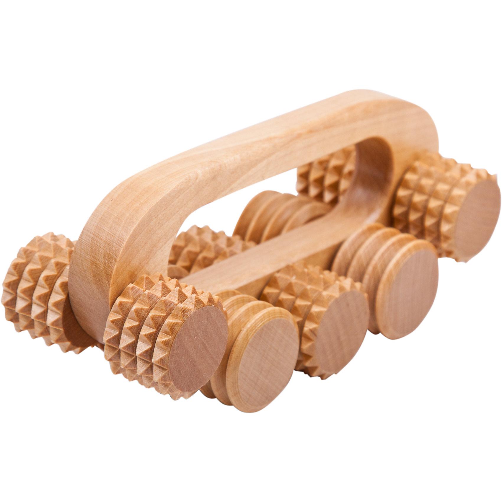 Массажер Качалка, ТимбэОсновные характеристики<br><br>Размер: 64*162*162мм<br>Материал: береза<br>Цвет: натуральная древесина<br>Страна-производитель: Россия<br>Упаковка: пакет с европодвесом<br><br>Массажер позволяет проводить как классический, так и точечный массаж. Использование массажеров с деревянными валиками позволяет сочетать массаж с аромотерапией.<br><br>Ширина мм: 160<br>Глубина мм: 60<br>Высота мм: 80<br>Вес г: 164<br>Возраст от месяцев: 36<br>Возраст до месяцев: 192<br>Пол: Унисекс<br>Возраст: Детский<br>SKU: 5056623