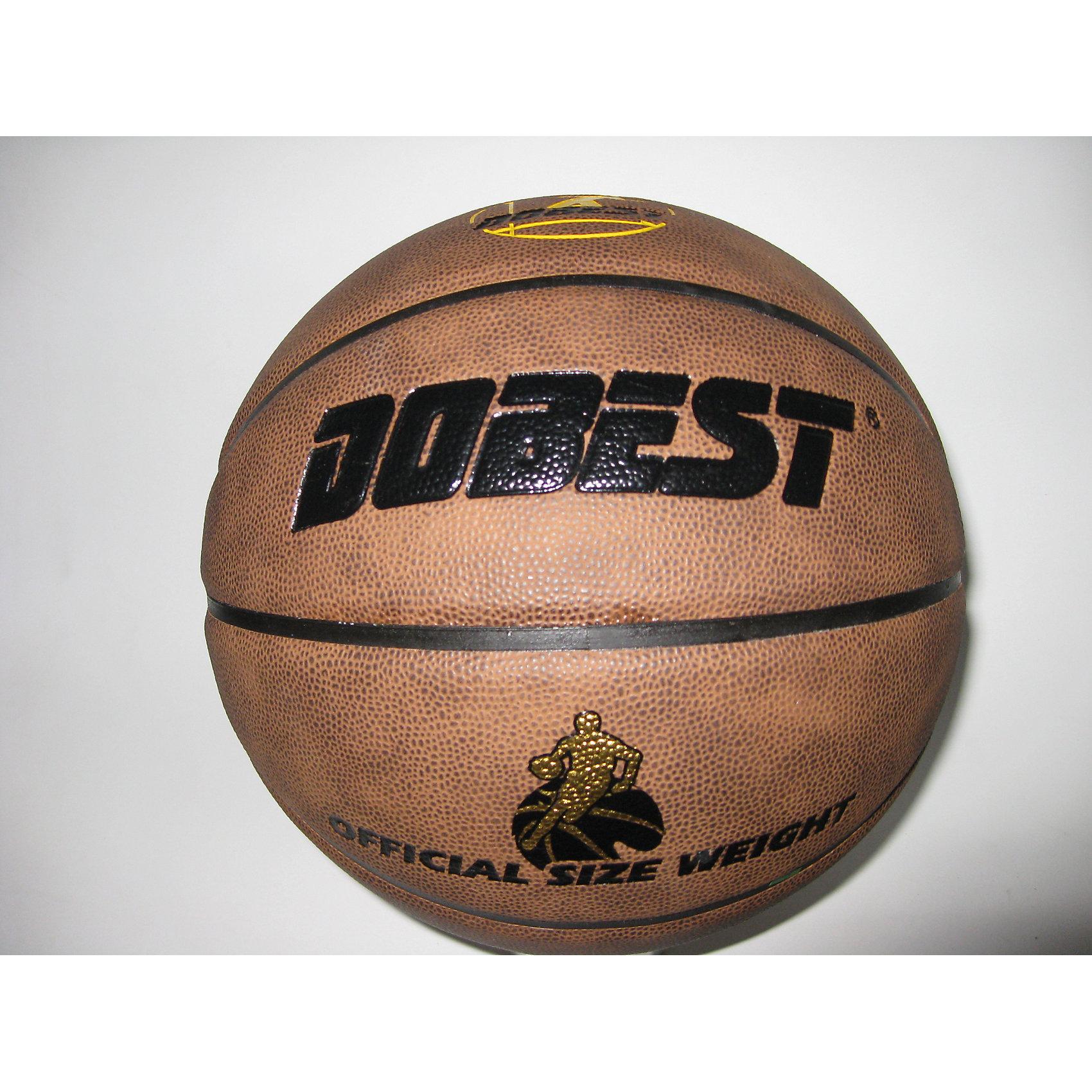 Баскетбольный мяч, PK300, р.7, синт. кожа, коричн., Dobest