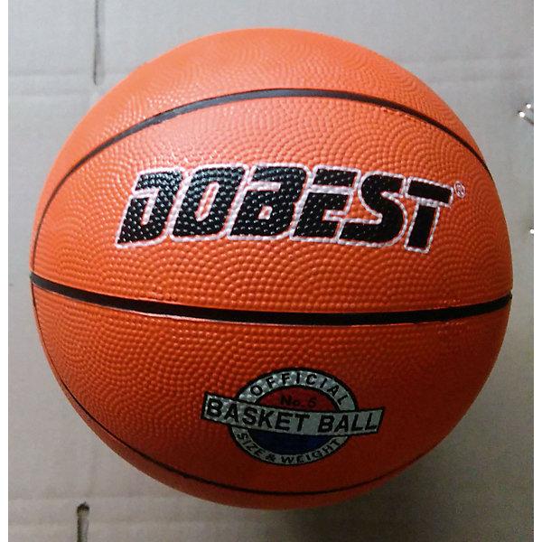 Баскетбольный мяч RB5, р.5, резина, оранж., Dobest