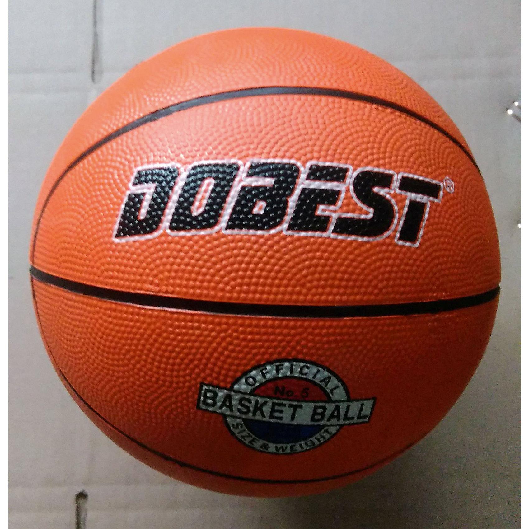 Баскетбольный мяч RB5, р.5, резина, оранж., DobestОсновные характеристики<br><br>Вид: баскетбольный<br>Уровень игры: любительский<br>Размер: 5<br>Количество панелей: 8<br>Количество слоев: 3<br>Вес: 500 гр.<br>Цвет: оранжевый<br>Материал: резина<br>Мяч подходит для игры на улице и в зале<br>Страна-производитель: Китай <br>Упаковка: пакет (поставляется в сдутом виде)<br><br>Баскетбольные мячи 5 размера предназначены для мини-баскетбола и юниорских команд, за которые играют дети и подростки в возрасте до 12 лет.<br>Ни для кого не секрет, что активные физические нагрузки очень полезны и нужны человеческому организму. А баскетбол, - это, пожалуй, одна из тех игр, в которых активно работают практически все мышцы тела, тренируются лёгкие, выносливость.<br><br>Ширина мм: 150<br>Глубина мм: 200<br>Высота мм: 200<br>Вес г: 200<br>Возраст от месяцев: 36<br>Возраст до месяцев: 192<br>Пол: Унисекс<br>Возраст: Детский<br>SKU: 5056628