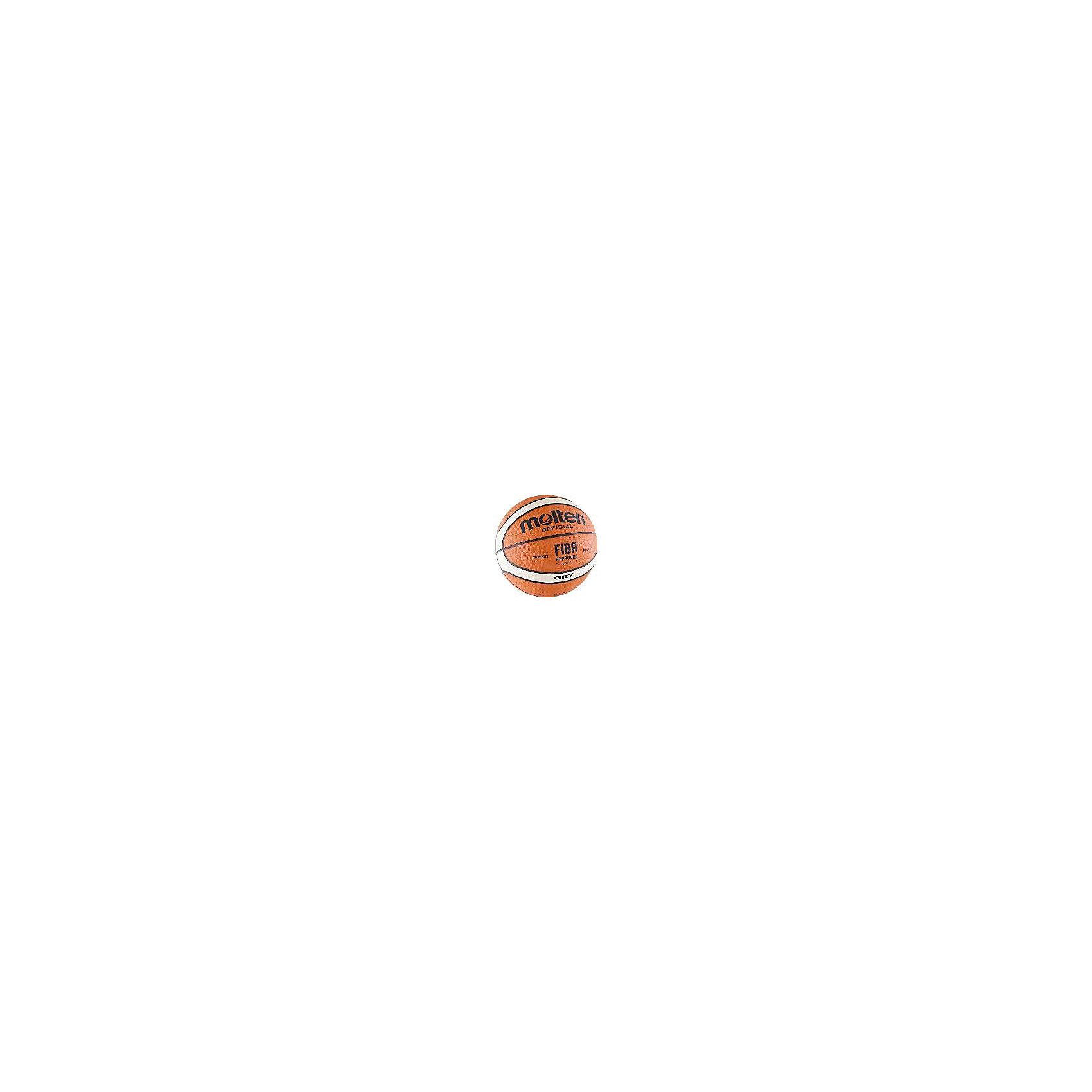 - Баскетбольный мяч, BGR7-OI р. 7, резина, оранж-беж-черн., MOLTEN мяч баскетбольный molten bgr7 vy р7