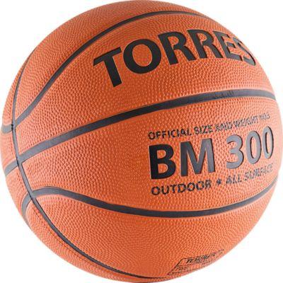 - Баскетбольный Мяч Bm300, Р. 7, Резина, Темнооранж., Torres