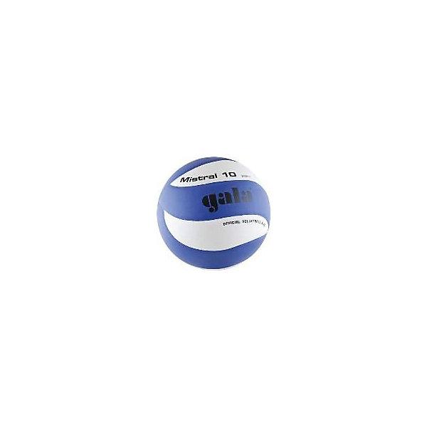 Волейбольный мяч Mistral 10, р. 5, синт. кожа, GalaМячи детские<br>Основные характеристики<br><br>Вид: волейбольный<br>Уровень игры: любительский<br>Размер: 5<br>Количество панелей: 10<br>Вес: 280гр<br>Окружность: 65-67см<br>Тип соединения панелей: клеенные<br>Материал камеры: бутиловая<br>Материал обмотки камеры: нейлон<br>Материал покрышки: синтетическая кожа (поливинилхлорид)<br>Цвет основной: синий<br>Цвет дополнительный: черный, белый<br>Страна-производитель: Чешская Республика <br>Упаковка: пакет (поставляется в сдутом виде)<br>Ширина мм: 213; Глубина мм: 213; Высота мм: 75; Вес г: 280; Возраст от месяцев: 36; Возраст до месяцев: 192; Пол: Унисекс; Возраст: Детский; SKU: 5056635;