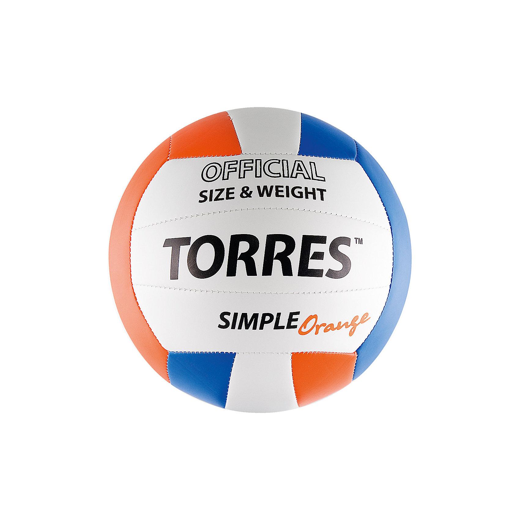 - Волейбольный мяч, р.5, синт.кожа, TORRES мяч волейбольный torres set р 5