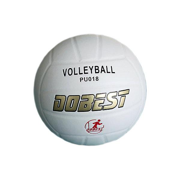 Волейбольный мяч  PU018 клеенный , DobestМячи детские<br>Основные характеристики<br><br>Вид: волейбольный<br>Уровень игры: любительский<br>Размер: 5<br>Количество панелей: 18<br>Количество слоев: 4<br>Вес: 260-280гр<br>Тип соединения панелей: клееный<br>Материал камеры: резина<br>Материал: синтетическая кожа<br>Цвет: белый<br>Подходит для игры на улице и в зале<br>Страна-производитель: Китай <br>Упаковка: пакет (поставляется в сдутом виде)<br>Ширина мм: 210; Глубина мм: 210; Высота мм: 75; Вес г: 280; Возраст от месяцев: 36; Возраст до месяцев: 192; Пол: Унисекс; Возраст: Детский; SKU: 5056639;