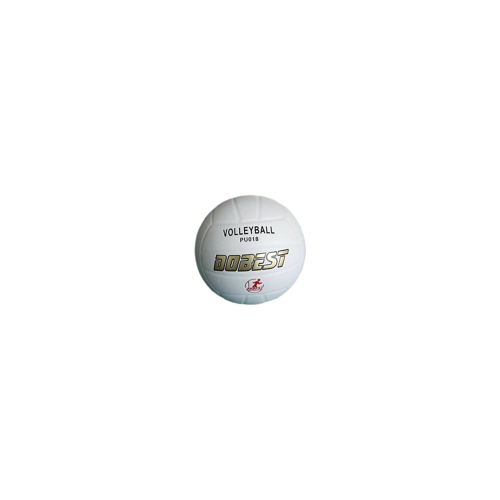 Волейбольный мяч  PU018 клеенный , DobestОсновные характеристики<br><br>Вид: волейбольный<br>Уровень игры: любительский<br>Размер: 5<br>Количество панелей: 18<br>Количество слоев: 4<br>Вес: 260-280гр<br>Тип соединения панелей: клееный<br>Материал камеры: резина<br>Материал: синтетическая кожа<br>Цвет: белый<br>Подходит для игры на улице и в зале<br>Страна-производитель: Китай <br>Упаковка: пакет (поставляется в сдутом виде)<br><br>Ширина мм: 210<br>Глубина мм: 210<br>Высота мм: 75<br>Вес г: 280<br>Возраст от месяцев: 36<br>Возраст до месяцев: 192<br>Пол: Унисекс<br>Возраст: Детский<br>SKU: 5056639