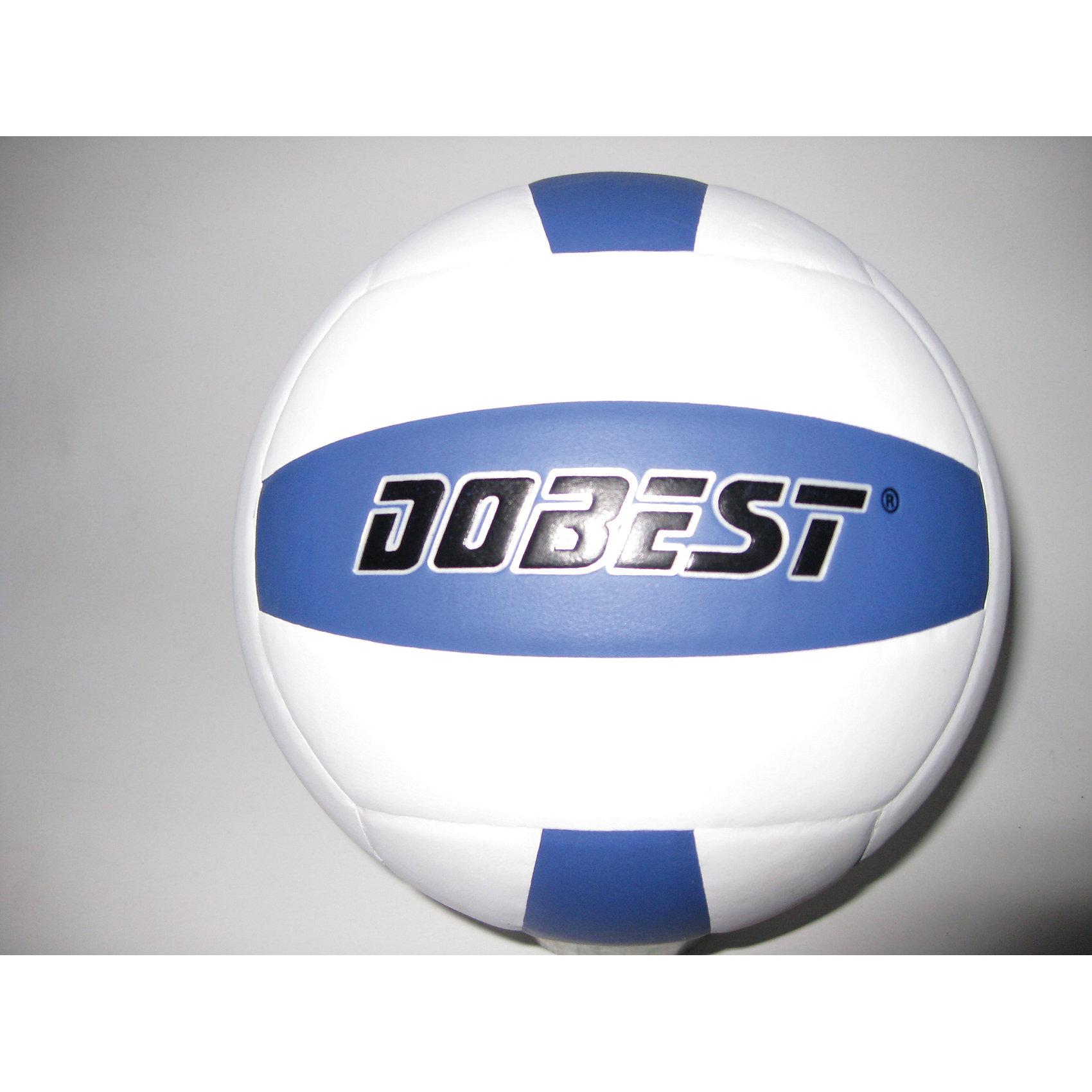 Волейбольный мяч SU300 клееный, DobestОсновные характеристики<br><br>Вид: волейбольный<br>Уровень игры: любительский<br>Размер: 5<br>Количество панелей: 18<br>Количество слоев: 4<br>Вес: 260-280гр<br>Тип соединения панелей: клееный<br>Материал камеры: резина<br>Материал: синтетическая кожа<br>Цвет основной: белый<br>Цвет дополнительный: синий<br>Подходит для игры на улице и в зале<br>Страна-производитель: Китай <br>Упаковка: пакет (поставляется в сдутом виде)<br><br>Ширина мм: 75<br>Глубина мм: 210<br>Высота мм: 210<br>Вес г: 0<br>Возраст от месяцев: 36<br>Возраст до месяцев: 192<br>Пол: Унисекс<br>Возраст: Детский<br>SKU: 5056640