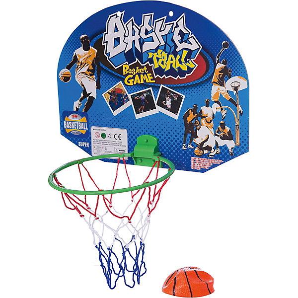 Набор для игры в баскетболИгровые наборы<br>Основные характеристики<br><br>Комплектность: щит, корзина с сеткой, надувной мяч.<br>Размер щита: 38х27см<br>Диаметр мяча: 10 см <br>Материал: поливинилхлорид, картон <br>Страна-производитель: Китай <br>Упаковка: пакет<br><br>Такой набор прекрасно подойдет для детей, которые любят весело и активно проводить время. Игра в баскетбол отлично развивает ловкость, силу, глазомер и быстроту реакции.<br>Ширина мм: 50; Глубина мм: 300; Высота мм: 250; Вес г: 0; Возраст от месяцев: 36; Возраст до месяцев: 192; Пол: Унисекс; Возраст: Детский; SKU: 5056649;