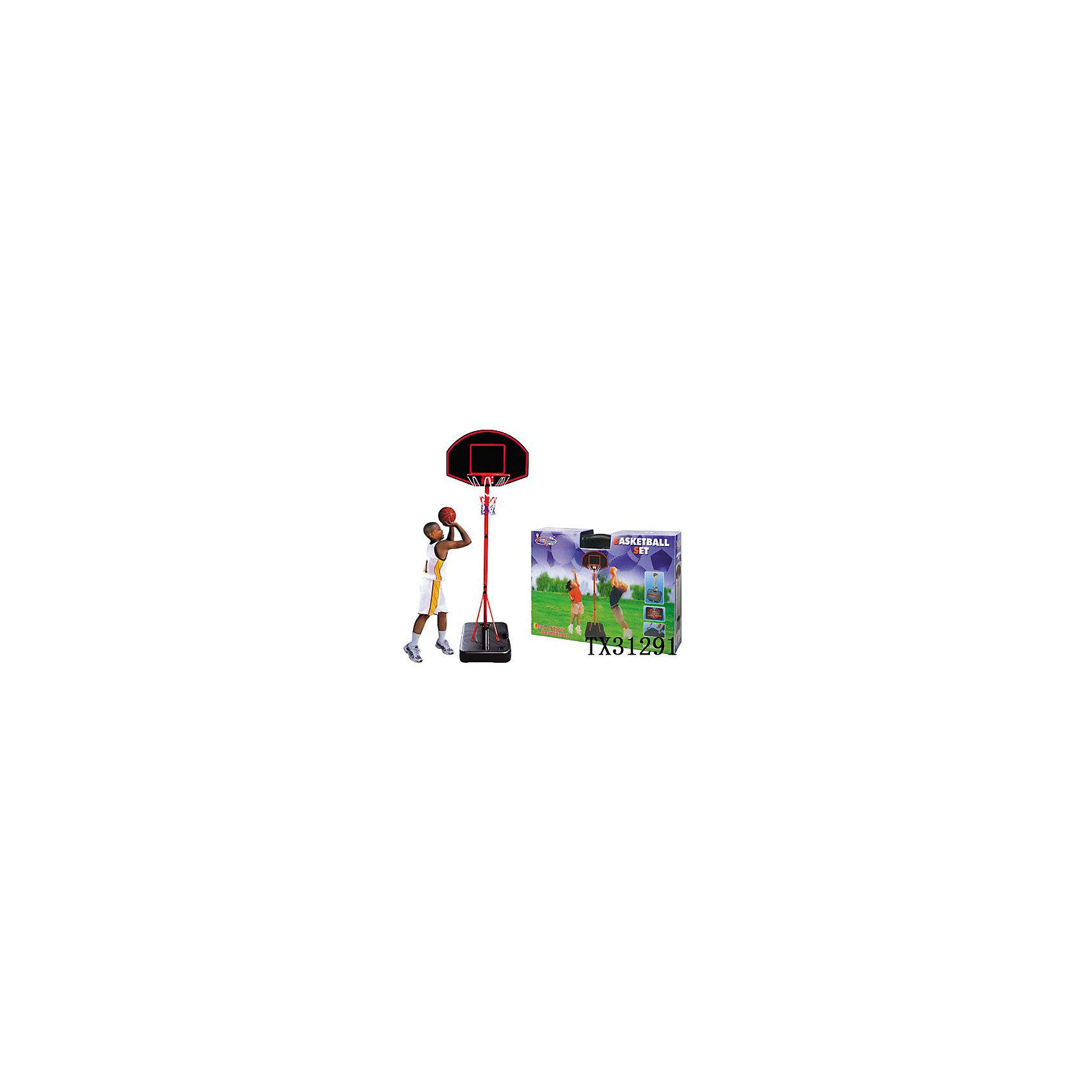 Баскетбольная стойка, KingSportОсновные характеристики<br><br>Сборно-разборная конструкция<br>Водоналивное основание <br>Размер основания: 65х46см <br>В комплекте мяч (диаметр: 18см); насос<br>Регулируемая высота: 109 - 190см<br>Размер щита: 66х45см<br>Разобранная стойка складывается в основание, выполненное в виде кейса для удобства переноски<br>Материал: полипропилен, сталь, поливинилхлорид<br>Вес: 5,83кг<br>Страна-производитель: Китай <br>Упаковка: цветная коробка<br>Габариты изделия в упаковке: 68х12х48см<br><br>Игра в баскетбол помогает привить любовь к спорту, а также развить координацию движений, ловкость и сноровку.<br><br>Ширина мм: 490<br>Глубина мм: 690<br>Высота мм: 120<br>Вес г: 5830<br>Возраст от месяцев: 36<br>Возраст до месяцев: 192<br>Пол: Унисекс<br>Возраст: Детский<br>SKU: 5056659