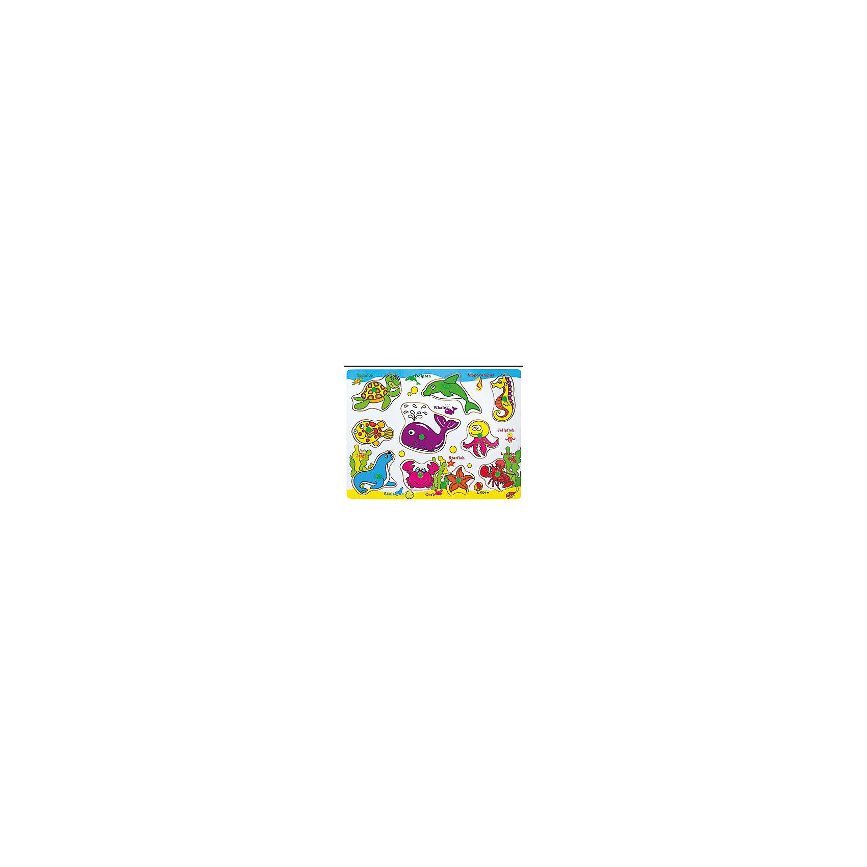 Деревянный пазл Морские животные, Kribly BooДеревянные пазлы<br>Деревянный пазл Морские животные, Kribly Boo<br><br>Характеристики:<br><br>• Материал: дерево, бумага<br>• Возраст: от 3 лет<br>• Деталей: 10 штук<br><br>Деревянный пазл помогает малышу развить внимательность, пространственное мышление, моторику рук и координацию движений. И все это без скучных упражнений, с помощью игры. Данный пазл познакомит ребенка с обитателями морского мира. Пазл сделан из экологически чистого материала – дерева. Все детали хорошо обработаны и не оставляют заноз.<br><br>Деревянный пазл Морские животные, Kribly Boo можно купить в нашем интернет-магазине.<br><br>Ширина мм: 300<br>Глубина мм: 10<br>Высота мм: 230<br>Вес г: 0<br>Возраст от месяцев: 60<br>Возраст до месяцев: 120<br>Пол: Унисекс<br>Возраст: Детский<br>SKU: 5059062