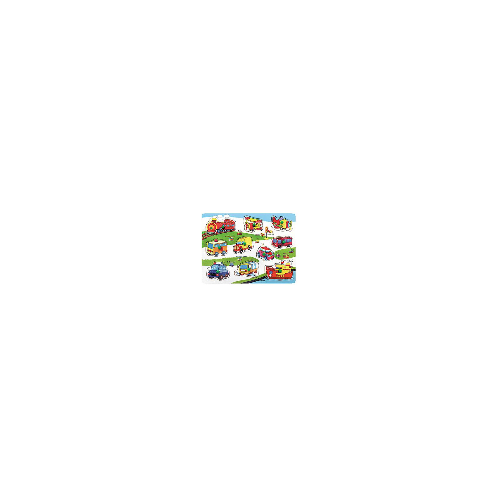 Деревянный пазл Транспорт, Kribly BooДеревянная доска, 10 съемных элементов<br><br>Ширина мм: 300<br>Глубина мм: 10<br>Высота мм: 230<br>Вес г: 29<br>Возраст от месяцев: 60<br>Возраст до месяцев: 120<br>Пол: Унисекс<br>Возраст: Детский<br>SKU: 5059065