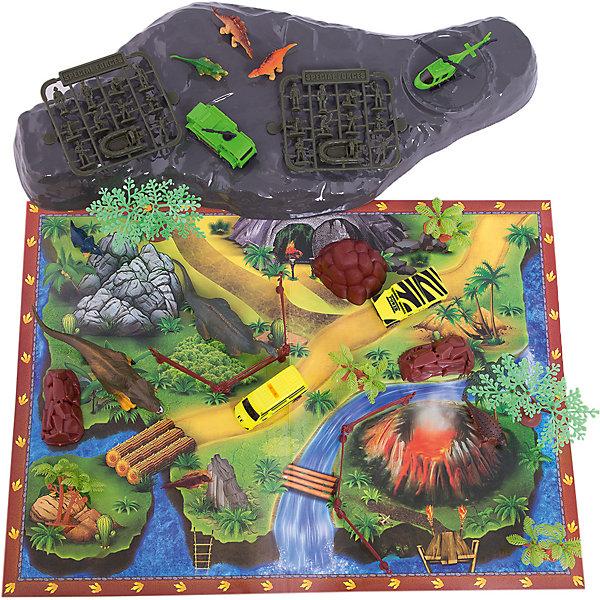 Игровой конструктор Парк динозавров, Kribly BooПластмассовые конструкторы<br>51 элемент<br>Ширина мм: 230; Глубина мм: 10; Высота мм: 180; Вес г: 21; Возраст от месяцев: 60; Возраст до месяцев: 120; Пол: Унисекс; Возраст: Детский; SKU: 5059069;