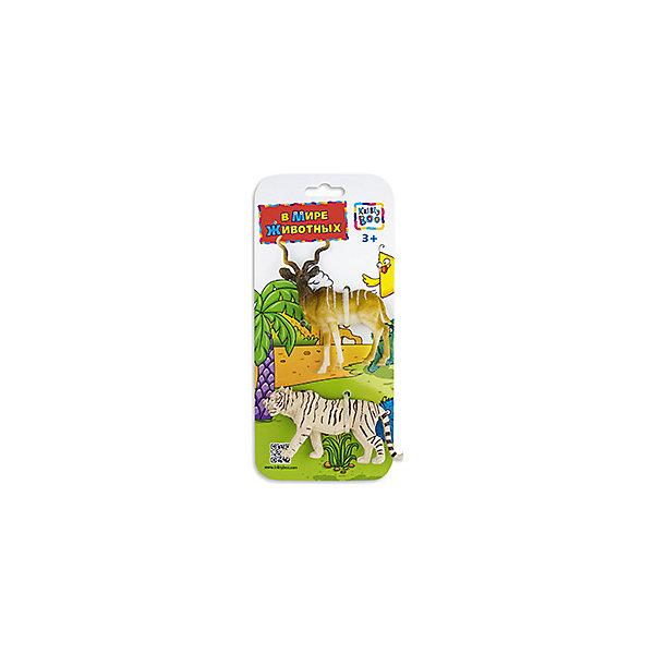 Фигурки зверей В Мире Животных,  Винторогая антилопа и Тигр, Kribly BooМир животных<br>Фигурки зверей В Мире Животных, Винторогая антилопа и Тигр, Kribly Boo (Крибли Бу). <br><br>Характеристика:<br><br>• Материал: пластик. <br>• Размер упаковки: 26х12х3 см. <br>• 2 фигурки в наборе. <br>• Фигурки хорошо детализированы и реалистично раскрашены. <br><br>Собери свою коллекцию животных вместе с Kribly Boo. В наборе представлены фигурки винторогой антилопы и тигра. Придумывай увлекательные истории из жизни зверей, узнай, где они обитают и чем питаются. Игрушки прекрасно детализированы и реалистично раскрашены, изготовлены из высококачественных материалов безопасных для детей. <br><br>Фигурки зверей В Мире Животных, Винторогую антилопу и Тигра, Kribly Boo (Крибли Бу) можно купить в нашем магазине.<br><br>Ширина мм: 260<br>Глубина мм: 30<br>Высота мм: 120<br>Вес г: 22<br>Возраст от месяцев: 60<br>Возраст до месяцев: 120<br>Пол: Унисекс<br>Возраст: Детский<br>SKU: 5059085