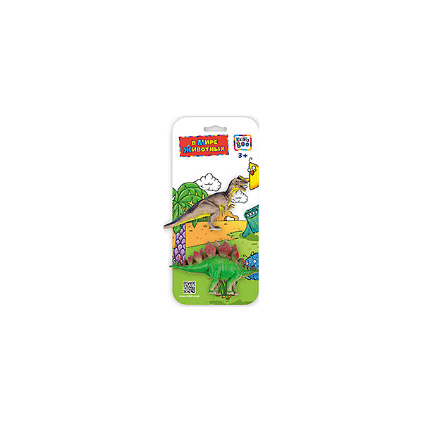 Фигурки зверей В Мире Животных, Аллозавр и Стегозавра, Kribly BooМир животных<br>Фигурки зверей В Мире Животных, Аллозавр и Стегозавр, Kribly Boo (Крибли Бу). <br><br>Характеристика:<br><br>• Материал: пластик. <br>• Размер упаковки: 26х12х3 см. <br>• 2 фигурки в наборе. <br>• Фигурки хорошо детализированы и реалистично раскрашены. <br><br>Собери свою коллекцию животных вместе с Kribly Boo. В наборе представлены фигурки аллозавра и стегозавра. Придумывай увлекательные истории из жизни динозавров, узнай, где они обитали и чем питались. Игрушки прекрасно детализированы и реалистично раскрашены, изготовлены из высококачественных материалов безопасных для детей. <br><br>Фигурки зверей В Мире Животных, Аллозавра и Стегозавра, Kribly Boo (Крибли Бу), можно купить в нашем магазине.<br><br>Ширина мм: 260<br>Глубина мм: 30<br>Высота мм: 120<br>Вес г: 20<br>Возраст от месяцев: 60<br>Возраст до месяцев: 120<br>Пол: Унисекс<br>Возраст: Детский<br>SKU: 5059087