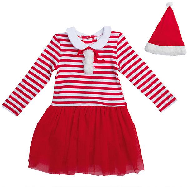 Карнавальный костюм для девочки PlayTodayОдежда<br>Характеристики:<br><br>• Вид одежды: карнавальный костюм<br>• Пол: для девочки<br>• Сезон: новогодние праздники<br>• Материал: хлопок – 100%, (верх); полиэстер – 100% (юбка)<br>• Цвет: белый, красный<br>• Силуэт: прямой крой<br>• Длина платья: миди<br>• Рукав: длинный<br>• Вырез горловины: круглый, отложной воротничок<br>• Застежка: кнопки на спинке по всей длине платья<br>• Наличие колпака Санта Клауса<br>• Особенности ухода: ручная стирка без применения отбеливающих средств, глажение при низкой температуре <br><br>PlayToday – это линейка детской одежды, которая предназначена как для повседневности, так и для праздников. Большинство моделей выполнены в классическом стиле, сочетающем в себе традиции с яркими стильными элементами и аксессуарами. Весь ассортимент одежды сочетается между собой по стилю и цветовому решению, поэтому Вам будет легко сформировать гардероб вашего ребенка, который отражает его индивидуальность. <br>Карнавальный костюм для девочки PlayToday – яркий, стильный и оригинальный наряд для новогодних праздников. Платье прямого силуэта выполнено из 100% хлопка, юбка оформлена сетчатой тканью, которая придает наряду пышность и форму. У платья стильный дизайн – полосатый верх, однотонная юбка и яркие детали: помпоны и белый воротничок. Платье удобно надевать и снимать: на спинке по всей длине имеются кнопки. Для законченности образа предусмотрена шапка-колпак. <br><br>Карнавальный костюм для девочки PlayToday можно купить в нашем интернет-магазине.<br><br>Ширина мм: 157<br>Глубина мм: 13<br>Высота мм: 119<br>Вес г: 200<br>Цвет: красный<br>Возраст от месяцев: 12<br>Возраст до месяцев: 15<br>Пол: Женский<br>Возраст: Детский<br>Размер: 80,92,86<br>SKU: 5059411