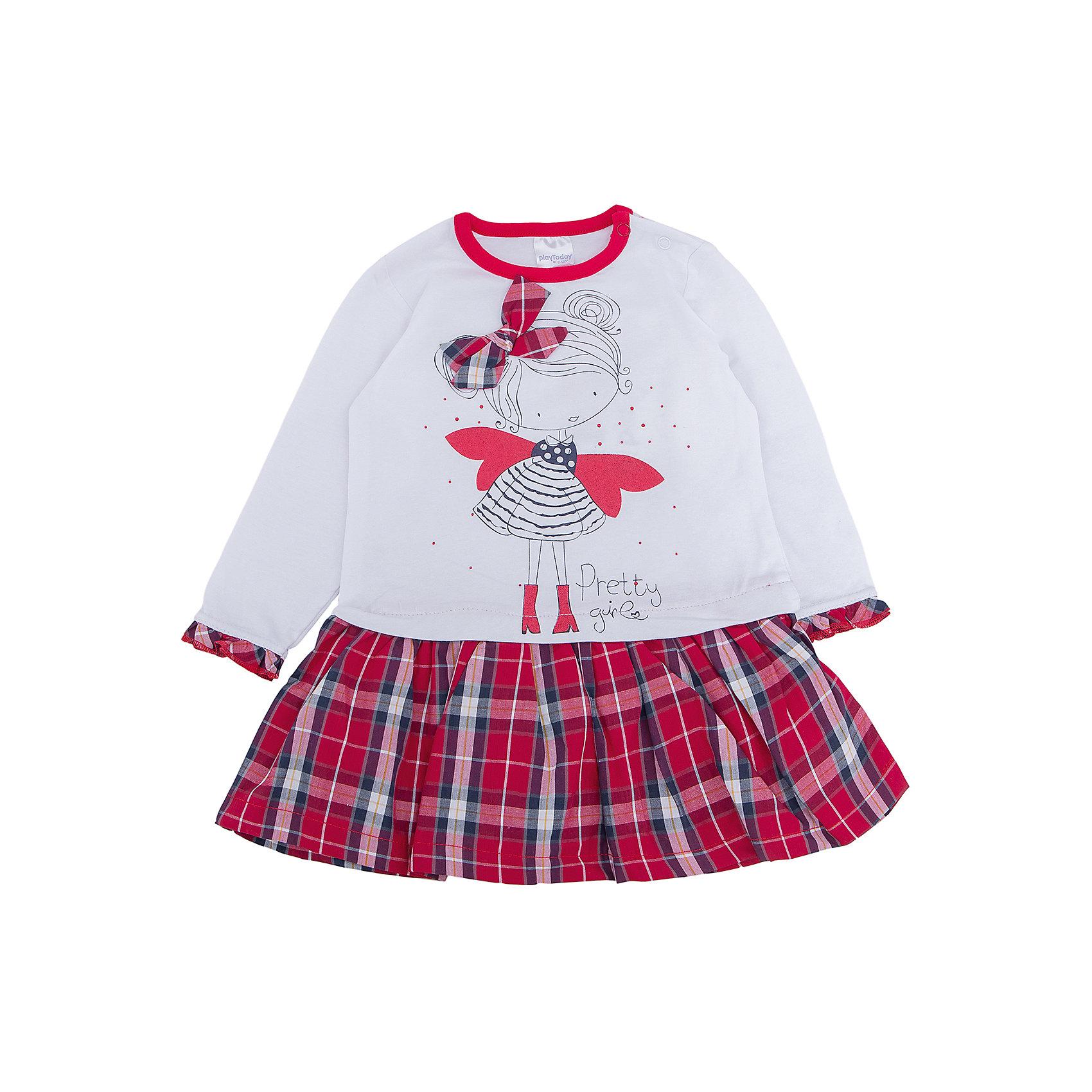 PlayToday Нарядное платье для девочки PlayToday девочки shoulderless длинный платье подростковый вечерние официальные платья светло фиолетовый