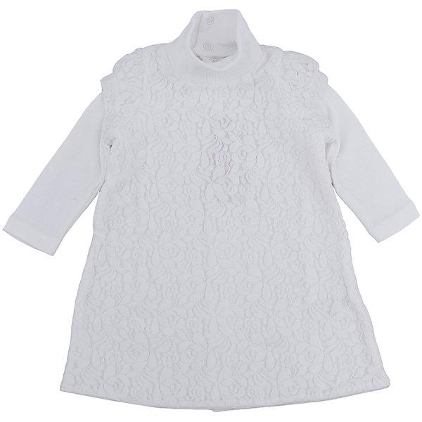 Нарядное платье для девочки PlayTodayОдежда<br>Характеристики:<br><br>• Вид одежды: платье<br>• Предназначение: праздничное платье<br>• Сезон: круглый год<br>• Материал: 45% полиамид, 45% хлопок, 10% эластан<br>• Цвет: белый<br>• Силуэт: прямой <br>• Длина платья: миди<br>• Рукав: длинный<br>• Вырез горловины и воротник: высокий воротник-стойка<br>• Застежка: кнопки по всей длине платья на спинке<br>• Особенности ухода: ручная стирка без применения отбеливающих средств, глажение при низкой температуре <br><br>PlayToday – это линейка детской одежды, которая предназначена как для повседневности, так и для праздников. Большинство моделей выполнены в классическом стиле, сочетающем в себе традиции с яркими стильными элементами и аксессуарами. Весь ассортимент одежды сочетается между собой по стилю и цветовому решению, поэтому Вам будет легко сформировать гардероб вашего ребенка, который отражает его индивидуальность. <br>Платье для девочки PlayToday выполнено из сочетания полиамида, хлопка и эластана. У платья круглая горловина, высокий воротник-стойка и длинный рукав, оформленный фонариком. Выполнено в классическом стиле: прямой силуэт придает платью особое очарование, а фактура ткани – стиль и изящество. Платье легко надевать и снимать, сзади предусмотрены застежки по всей длине изделия. Платье для девочки PlayToday – это стиль, качество и элегантность!<br><br>Платье для девочки PlayToday можно купить в нашем интернет-магазине.<br><br>Ширина мм: 236<br>Глубина мм: 16<br>Высота мм: 184<br>Вес г: 177<br>Цвет: белый<br>Возраст от месяцев: 6<br>Возраст до месяцев: 9<br>Пол: Женский<br>Возраст: Детский<br>Размер: 74,86,80,92<br>SKU: 5059431