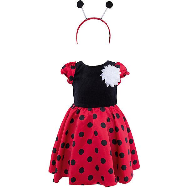 Нарядное платье для девочки PlayTodayДля девочек<br>Характеристики:<br><br>• Вид одежды: платье<br>• Предназначение: праздничное платье, карнавальный костюм<br>• Сезон: круглый год<br>• Материал: верх – 75% хлопок, 25% полиамид, подкладка – 100% хлопок<br>• Цвет: черный, красный<br>• Силуэт: А силуэт <br>• Длина платья: макси<br>• Рукав: фонарики<br>• Вырез горловины: круглый<br>• Застежка: молния на спинке<br>• В комплекте ободок и текстильный цветок<br>• Особенности ухода: ручная стирка без применения отбеливающих средств, глажение при низкой температуре <br><br>PlayToday – это линейка детской одежды, которая предназначена как для повседневности, так и для праздников. Большинство моделей выполнены в классическом стиле, сочетающем в себе традиции с яркими стильными элементами и аксессуарами. Весь ассортимент одежды сочетается между собой по стилю и цветовому решению, поэтому Вам будет легко сформировать гардероб вашего ребенка, который отражает его индивидуальность. <br>Платье для девочки PlayToday с подкладкой выполнено из сочетания полиамида и хлопка. Яркое, стильное, он предназначено не только для праздников, но и станет прекрасным вариантом в качестве карнавального костюма для девочки. Наряд выполнен в виде божьей коровки: верх из мягкого велюра черного цвета и пышная длинная юбка из сатина красного цвета в крупный черный горох. Дополняет образ – ободок для волос с рожками божьей коровки и текстильный белый цветок, который можно прикрепить на талию или грудь. Платье легко надевать и снимать, сзади предусмотрена застежка-молния. Платье для девочки PlayToday – это стиль, качество и элегантность!<br><br>Платье для девочки PlayToday можно купить в нашем интернет-магазине.<br><br>Ширина мм: 236<br>Глубина мм: 16<br>Высота мм: 184<br>Вес г: 177<br>Цвет: черный<br>Возраст от месяцев: 6<br>Возраст до месяцев: 9<br>Пол: Женский<br>Возраст: Детский<br>Размер: 74,86,80,92<br>SKU: 5059436