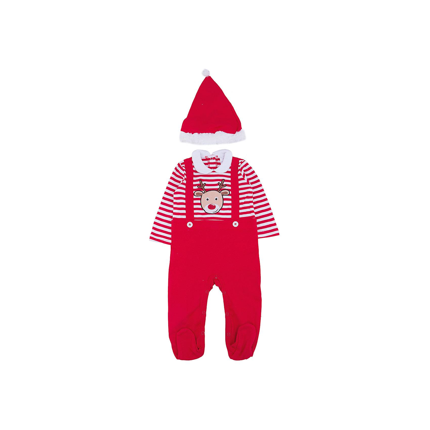Карнавальный костюм для мальчика PlayTodayХарактеристики:<br><br>• Вид одежды: боди<br>• Предназначение: карнавальный костюм, праздничная одежда<br>• Пол: для мальчика<br>• Сезон: новогодние праздники<br>• Материал: хлопок – 100%<br>• Цвет: белый, красный<br>• Рукав: длинный<br>• Вырез горловины: круглый, отложной воротничок<br>• Застежка: кнопки на спинке и внизу<br>• Наличие колпака Санта Клауса<br>• Особенности ухода: ручная стирка без применения отбеливающих средств, глажение при низкой температуре <br><br>PlayToday – это линейка детской одежды, которая предназначена как для повседневности, так и для праздников. Большинство моделей выполнены в классическом стиле, сочетающем в себе традиции с яркими стильными элементами и аксессуарами. Весь ассортимент одежды сочетается между собой по стилю и цветовому решению, поэтому Вам будет легко сформировать гардероб вашего ребенка, который отражает его индивидуальность. <br>Карнавальный костюм для мальчика PlayToday – яркий, стильный и оригинальный наряд по типу боди для новогодних праздников. Боди с выполнено из 100% хлопка. У боди стильный дизайн – полосатый верх, на груди имеется имитация подтяжек и яркая наклейка в виде оленя, штанишки – однотонные. Боди удобно надевать и снимать: все застежки имеют кнопки. Для законченности образа предусмотрена шапка-колпак. <br><br>Карнавальный костюм для мальчика PlayToday можно купить в нашем интернет-магазине.<br><br>Ширина мм: 157<br>Глубина мм: 13<br>Высота мм: 119<br>Вес г: 200<br>Цвет: красный<br>Возраст от месяцев: 2<br>Возраст до месяцев: 5<br>Пол: Мужской<br>Возраст: Детский<br>Размер: 62,68,74<br>SKU: 5059451