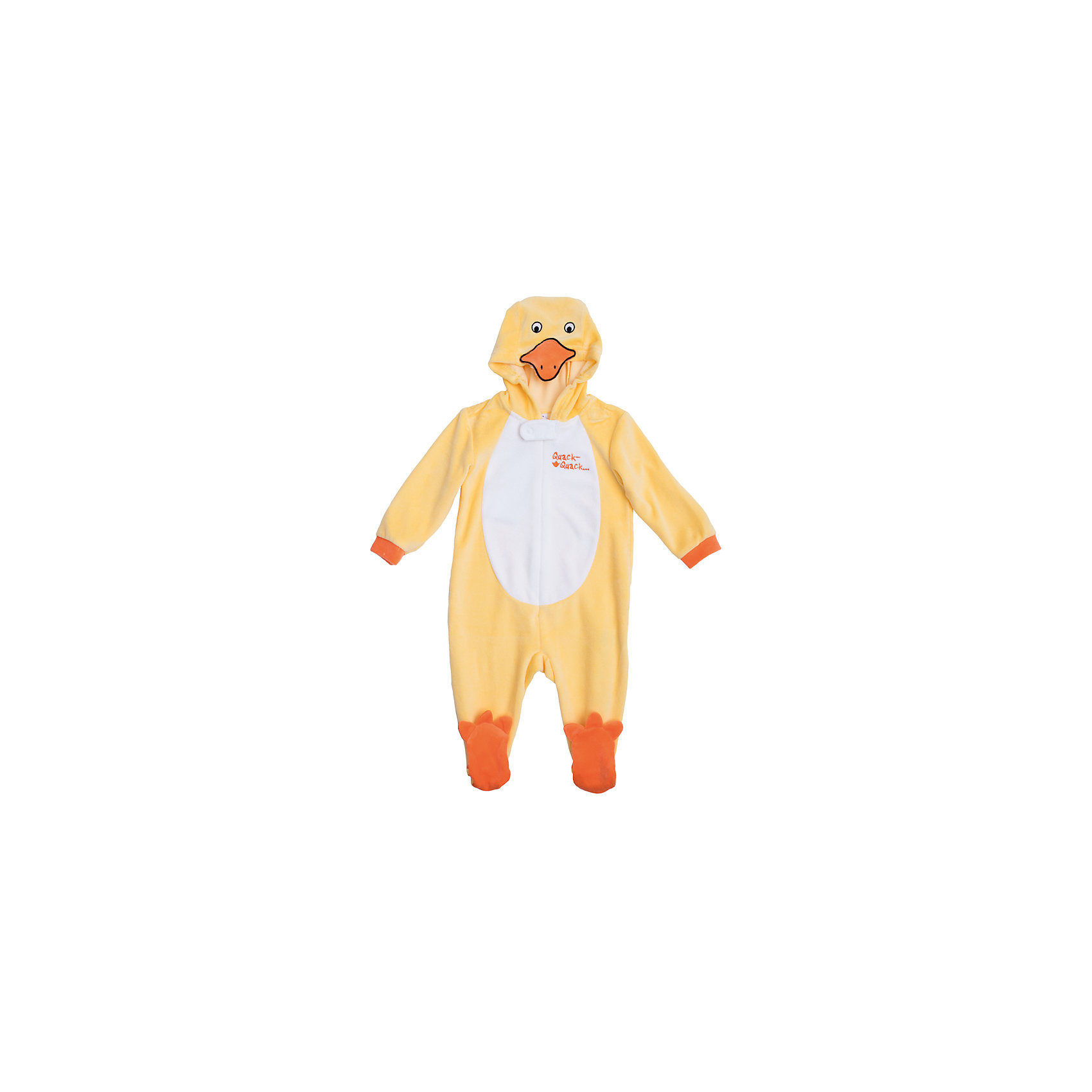 Комбинезон для мальчика PlayTodayКарнавальные костюмы и аксессуары<br>Характеристики:<br><br>• Вид одежды: комбинезон<br>• Предназначение: карнавальный костюм, повседневная одежда<br>• Пол: для мальчика<br>• Сезон: всесезонный<br>• Материал: хлопок – 80%, полиэстер – 20%<br>• Цвет: желтый, белый, оранжевый<br>• Рукав: длинный<br>• Вырез горловины: круглый<br>• Застежка: молния спереди<br>• Наличие капюшона<br>• Особенности ухода: ручная стирка без применения отбеливающих средств, глажение при низкой температуре <br><br>PlayToday – это линейка детской одежды, которая предназначена как для повседневности, так и для праздников. Большинство моделей выполнены в классическом стиле, сочетающем в себе традиции с яркими стильными элементами и аксессуарами. Весь ассортимент одежды сочетается между собой по стилю и цветовому решению, поэтому Вам будет легко сформировать гардероб вашего ребенка, который отражает его индивидуальность. <br>Комбинезон для мальчика PlayToday – яркий, стильный и оригинальный наряд, который может быть использован не только в качестве теплой одежды, но и в качестве карнавального костюма. Комбинезон выполнен из велюра высокого качества. Стиль комбинезона представляет собой имитацию утенка: ярко-желтые детали сочетаются с белой грудкой, оранжевой резинкой на рукавах и с носочками в форме лапок утенка. Капюшон представляет собой мордочку. Комбинезон удобно надевать и снимать: спереди по всей длине имеется застежка-молния. <br><br>Комбинезон для мальчика PlayToday можно купить в нашем интернет-магазине.<br><br>Ширина мм: 157<br>Глубина мм: 13<br>Высота мм: 119<br>Вес г: 200<br>Цвет: желтый<br>Возраст от месяцев: 6<br>Возраст до месяцев: 9<br>Пол: Мужской<br>Возраст: Детский<br>Размер: 74,62,68<br>SKU: 5059461