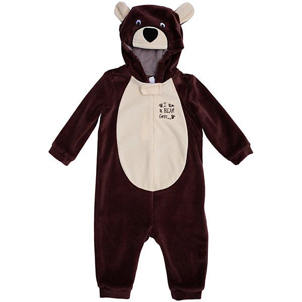 Комбинезон Мишка PlayTodayКарнавальные костюмы для мальчиков<br>Характеристики:<br><br>• Вид одежды: комбинезон<br>• Предназначение: карнавальный костюм, повседневная одежда<br>• Пол: для мальчика<br>• Сезон: зима, демисезонный<br>• Материал: хлопок – 80%, полиэстер – 20%<br>• Цвет: коричневый, светло-бежевый<br>• Рукав: длинный<br>• Вырез горловины: круглый<br>• Застежка: молния спереди<br>• Наличие капюшона<br>• Особенности ухода: ручная стирка без применения отбеливающих средств, глажение при низкой температуре <br><br>PlayToday – это линейка детской одежды, которая предназначена как для повседневности, так и для праздников. Большинство моделей выполнены в классическом стиле, сочетающем в себе традиции с яркими стильными элементами и аксессуарами. Весь ассортимент одежды сочетается между собой по стилю и цветовому решению, поэтому Вам будет легко сформировать гардероб вашего ребенка, который отражает его индивидуальность. <br>Комбинезон PlayToday – яркий, стильный и оригинальный наряд, который может быть использован не только в качестве теплой одежды, но и в качестве карнавального костюма. Комбинезон выполнен из велюра высокого качества. Стиль комбинезона представляет собой имитацию медвежонка: коричневые детали сочетаются со светлой грудкой, и капюшоном-мордочкой с ушками. На рукавах и штанинах предусмотрены эластичные манжеты коричневого цвета. Комбинезон удобно надевать и снимать: спереди по всей длине имеется застежка-молния. <br><br>Комбинезон PlayToday можно купить в нашем интернет-магазине.<br><br>Ширина мм: 157<br>Глубина мм: 13<br>Высота мм: 119<br>Вес г: 200<br>Цвет: коричневый<br>Возраст от месяцев: 3<br>Возраст до месяцев: 6<br>Пол: Мужской<br>Возраст: Детский<br>Размер: 68,74,92,86,80<br>SKU: 5059477