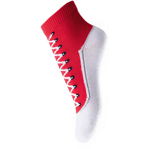 Носки для мальчика PlayTodayНоски<br>Носки для мальчика от известного бренда PlayToday.<br>Хлопковые носки.<br><br>Украшены рисунком с имитацией ботинка. Верх на мягкой резинке.<br>Состав:<br>75% хлопок, 22% нейлон, 3% эластан<br>Ширина мм: 87; Глубина мм: 10; Высота мм: 105; Вес г: 115; Цвет: красный/белый; Возраст от месяцев: 3; Возраст до месяцев: 12; Пол: Мужской; Возраст: Детский; Размер: 18-20,15-18; SKU: 5059501;