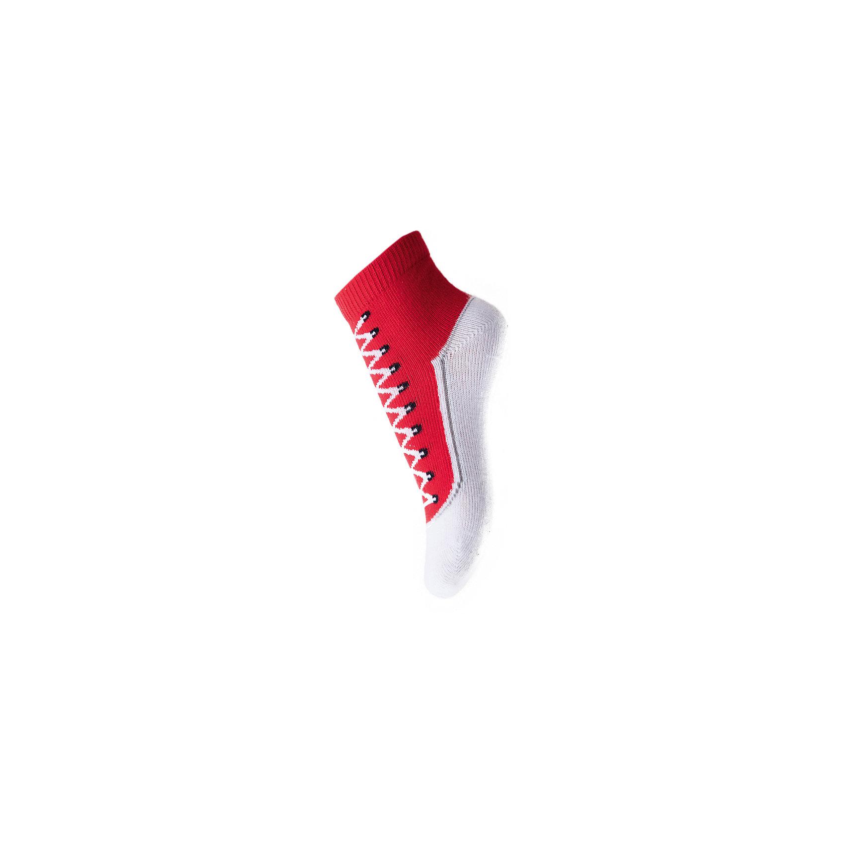 Носки для мальчика PlayTodayНоски<br>Носки для мальчика от известного бренда PlayToday.<br>Хлопковые носки.<br><br>Украшены рисунком с имитацией ботинка. Верх на мягкой резинке.<br>Состав:<br>75% хлопок, 22% нейлон, 3% эластан<br><br>Ширина мм: 87<br>Глубина мм: 10<br>Высота мм: 105<br>Вес г: 115<br>Цвет: красный<br>Возраст от месяцев: 3<br>Возраст до месяцев: 12<br>Пол: Мужской<br>Возраст: Детский<br>Размер: 18-20,15-18<br>SKU: 5059501
