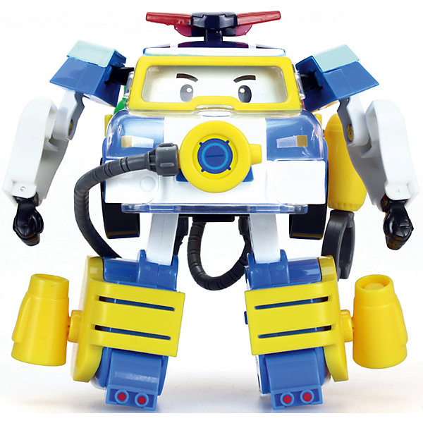 Трансформер и костюм водолаза Поли, 10 см, Робокар ПолиРобокар Поли<br>Трансформер и костюм водолаза Поли, 10 см, Робокар Поли.<br><br>Характеристики:<br><br>- В наборе: игрушка-трансформер, аксессуары костюма водолаза<br>- Материал: пластик<br>- Размер игрушки: 10 см.<br>- Упаковка: картонная коробка блистерного типа<br>- Размер упаковки: 10,8 x 15,2 x 17,2 см.<br>- Вес: 335 гр.<br><br>Теперь у ловкого и отважного полицейского автомобиля Робокара Поли появилось еще больше возможностей помогать людям, ведь у него есть водолазный костюм. Жители необычного городка Брумстауна могут не беспокоиться даже в том случае, если неприятности настигнут их под водой. Наш Поли легко и быстро трансформируется из машинки в робота, наденет на себя костюм и ринется на помощь людям!<br><br>Трансформера и костюм водолаза Поли, 10 см, Робокар Поли можно купить в нашем интернет-магазине.<br><br>Ширина мм: 108<br>Глубина мм: 172<br>Высота мм: 152<br>Вес г: 335<br>Возраст от месяцев: 36<br>Возраст до месяцев: 2147483647<br>Пол: Унисекс<br>Возраст: Детский<br>SKU: 5059828
