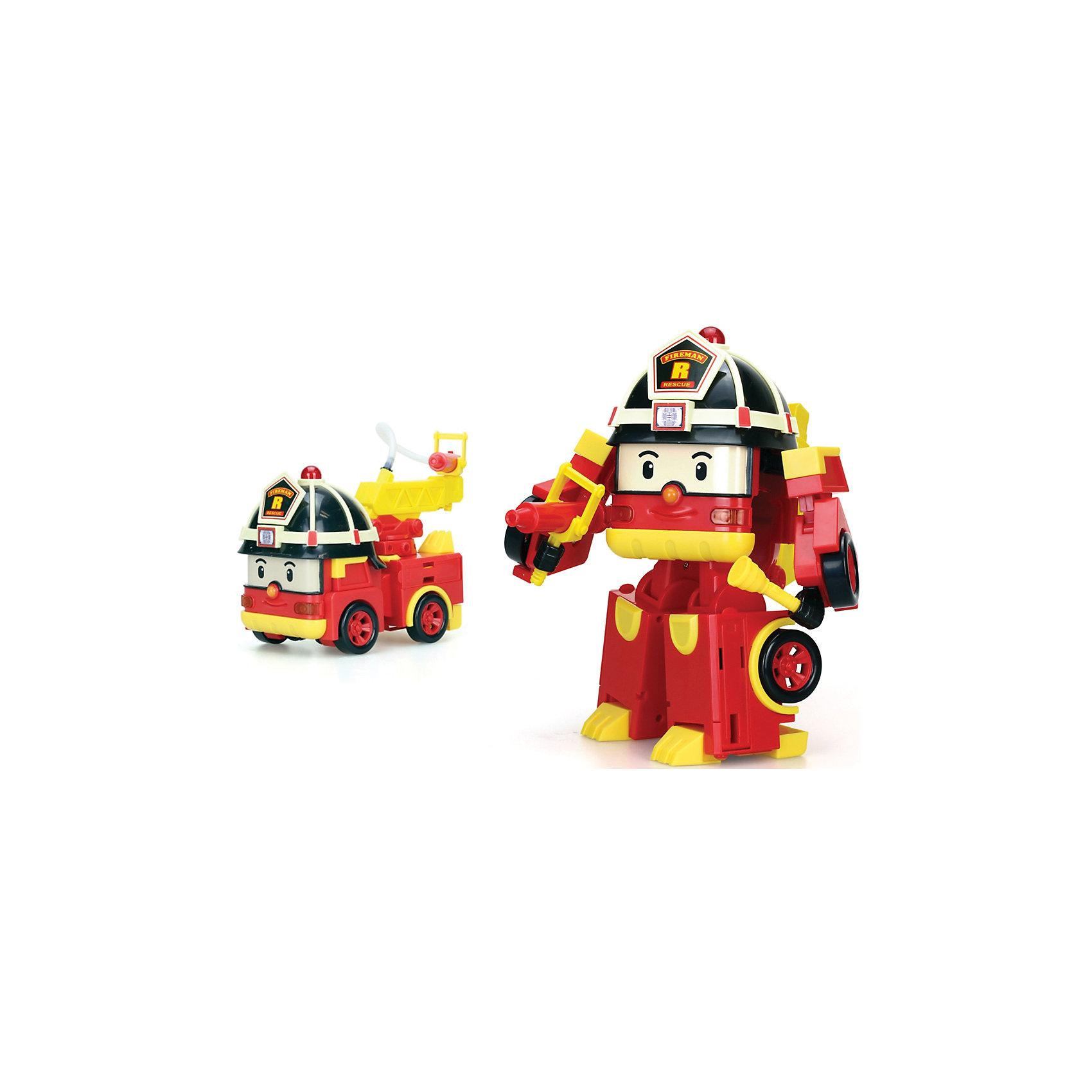 Трансформер Рой Мега, Робокар ПолиМашинки и транспорт для малышей<br>Трансформер Рой Мега, Робокар Поли.<br><br>Характеристики:<br><br>- В наборе: робот, перфоратор, фонарь, огнетушитель, молоток, насадка-брандспойт<br>- Материал: пластик<br>- Высота робота: 25 см.<br>- Размер машинки: 18 x 10 x 15 см.<br>- Батарейки: 4 х АА / LR6 1.5V (не входят в комплект)<br>- Упаковка: картонная коробка блистерного типа<br>- Размер упаковки: 24,1х17,7х33 см.<br>- Вес: 1,358 кг.<br><br>Робокар Рой всегда рад прийти на помощь! Если случается беда, он легко трансформируется в пожарную машину и мчится спасать жителей Брумстауна. В его арсенале есть все необходимое - фонарь, огнетушитель, перфоратор и насадка на шланг. Сам шланг можно поднимать и опускать. Световые и звуковые эффекты сделают игру реалистичнее и увлекательнее. Если нажать на маячок, который находится на каске робота, то он засветится и завоет сирена. А если нажать на треугольную кнопку, то зазвучит музыка и засветятся фары. Эта игрушка непременно понравится вашему малышу. Порадуйте ребенка таким замечательным подарком!<br><br>Трансформера Рой Мега, Робокар Поли можно купить в нашем интернет-магазине.<br><br>Ширина мм: 241<br>Глубина мм: 177<br>Высота мм: 330<br>Вес г: 1358<br>Возраст от месяцев: 36<br>Возраст до месяцев: 2147483647<br>Пол: Унисекс<br>Возраст: Детский<br>SKU: 5059829
