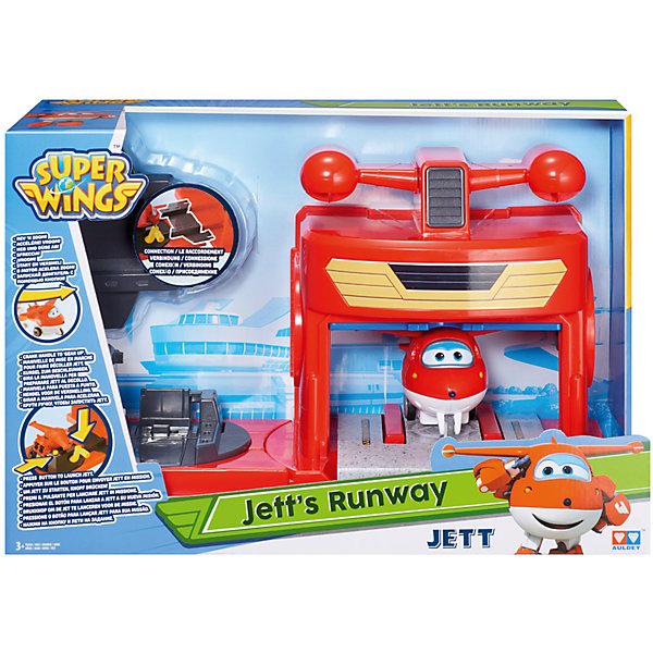Игровой набор Ангар Джетта, Супер КрыльяИгровые наборы с фигурками<br>Игровой набор Ангар Джетта, Супер Крылья.<br><br>Характеристики:<br><br>- В комплекте: игрушка-самолет с инерционным механизмом, детально передающая черты мультяшного героя; трансформирующийся ангар с пусковой установкой<br>- Материал: пластик<br>- Размер самолета: 9х16х7 см.<br>- Размер ангара в собранном виде: 35х12х19 см.<br>- Размер упаковки: 38,5х11х6 см.<br>- Вес: 1075 гр.<br><br>Повторите стремительный взлет самолета из мультфильма «Супер крылья»! Поместите его на стартовую площадку, закрепите колеса и отведите как можно выше с помощью ручки. А теперь нажимайте кнопку – и смотрите, как Джетт мчится вперед на полной скорости. Он отрывается от полосы, а фантазия ребенка уносит его вверх, на новое поручение по доставке посылок. Игрушечный самолет выглядит так же, как и мультяшный персонаж, поэтому ребенку интересно проводить с ним время. Ангар собирается из 3 частей, которые можно переставлять в зависимости от сценария игры. Он украшен наклейками с изображениями турбин и локаторов. При запуске самолетика автоматически поднимаются ворота. Составляющие набора выполнены из ударопрочного пластика высокого качества, и окрашены стойкими и нетоксичными красителями.<br><br>Игровой набор Ангар Джетта, Супер Крылья можно купить в нашем интернет-магазине.<br>Ширина мм: 142; Глубина мм: 250; Высота мм: 445; Вес г: 1308; Возраст от месяцев: 36; Возраст до месяцев: 2147483647; Пол: Унисекс; Возраст: Детский; SKU: 5059834;