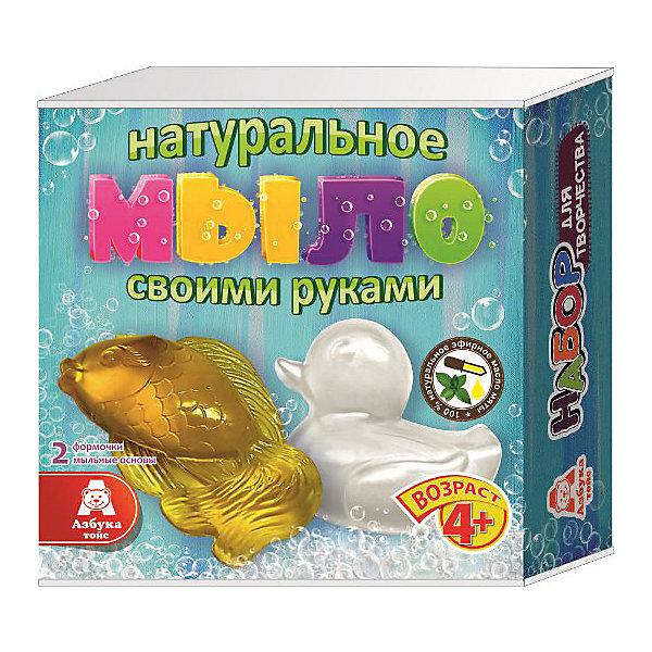 Мыло Рыбка и УточкаНаборы для создания мыла<br>Характеристики товара:<br><br>• упаковка: коробка<br>• количество цветов: 5<br>• возраст: 4+<br>• масса: 260 г<br>• габариты: 50х140х140 мм<br>• комплектация: натуральная мыльная основа (5 видов), эфирное масло (5 видов), деревянная палочка, емкость для растапливания, формочки - 5 шт., инструкция<br>• страна бренда: РФ<br>• страна изготовитель: РФ<br><br>Мыловарение – интересный и необычный способ занять малыша. Ошибочно полагать, что создавать мыло – творчество только для девочек. В новом наборе формочки позволяют варить мыло в форме различных предметов. На выходе у ребенка получится настоящее мыло, готовое к использованию. Благодаря эфирным маслам оно будет приятно пахнуть. В наборе есть все необходимое для создания продукта.<br>Набор станет отличным подарком ребенку, так как он сможет сам сделать полезную вещь для себя или в качестве подарка близким! Материалы, использованные при изготовлении товара, сертифицированы и отвечают всем международным требованиям по качеству. <br><br>Набор Мыло Рыбка и Уточка от бренда Азбука Тойс можно приобрести в нашем интернет-магазине.<br><br>Ширина мм: 140<br>Глубина мм: 50<br>Высота мм: 140<br>Вес г: 260<br>Возраст от месяцев: 48<br>Возраст до месяцев: 96<br>Пол: Унисекс<br>Возраст: Детский<br>SKU: 5062852