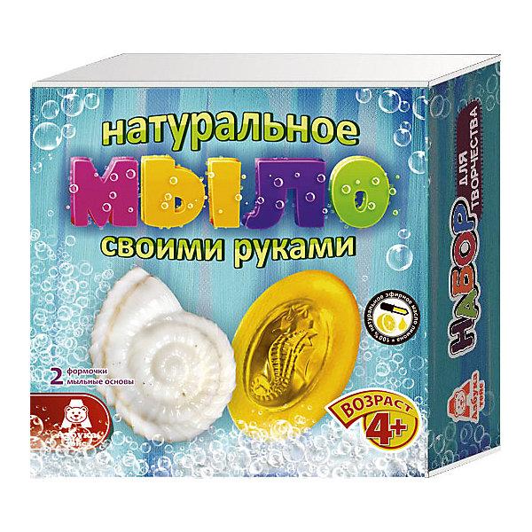 Мыло Морское царствоНаборы для создания мыла<br>Характеристики товара:<br><br>• упаковка: коробка<br>• количество цветов: 5<br>• возраст: 4+<br>• масса: 260 г<br>• габариты: 50х140х140 мм<br>• комплектация: натуральная мыльная основа (5 видов), эфирное масло (5 видов), деревянная палочка, емкость для растапливания, формочки - 5 шт., инструкция<br>• страна бренда: РФ<br>• страна изготовитель: РФ<br><br>Мыловарение – интересный и необычный способ занять малыша. Ошибочно полагать, что создавать мыло – творчество только для девочек. В новом наборе формочки позволяют варить мыло в форме различных предметов. На выходе у ребенка получится настоящее мыло, готовое к использованию. Благодаря эфирным маслам оно будет приятно пахнуть. В наборе есть все необходимое для создания продукта.<br>Набор станет отличным подарком ребенку, так как он сможет сам сделать полезную вещь для себя или в качестве подарка близким! Материалы, использованные при изготовлении товара, сертифицированы и отвечают всем международным требованиям по качеству. <br><br>Набор Мыло Морское царство от бренда Азбука Тойс можно приобрести в нашем интернет-магазине.<br><br>Ширина мм: 140<br>Глубина мм: 50<br>Высота мм: 140<br>Вес г: 260<br>Возраст от месяцев: 48<br>Возраст до месяцев: 96<br>Пол: Унисекс<br>Возраст: Детский<br>SKU: 5062857