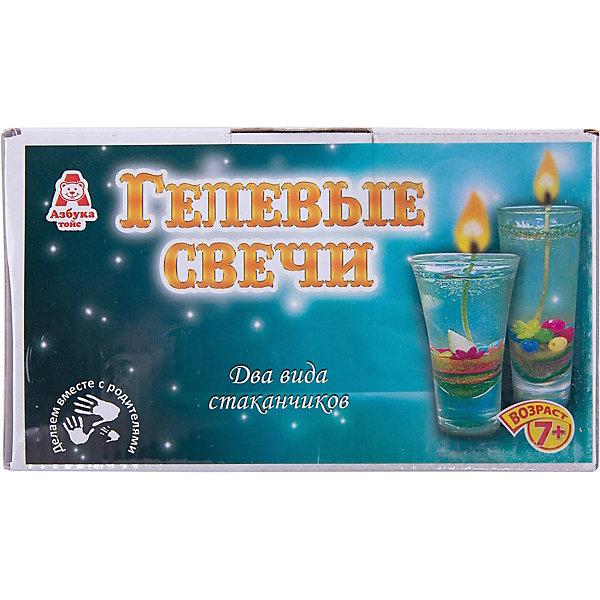 Свечи гелевые Морские сокровищаНаборы для создания свечей<br>Характеристики товара:<br><br>• упаковка: коробка<br>• материал: гель<br>• возраст: 7+<br>• масса: 470 г<br>• габариты: 170х80х100 мм<br>• комплектация: 2 стеклянных стаканчика, гель, фитиль, пластмассовый ножик и ложка, песок, декоративные элементы, инструкция<br>• страна бренда: РФ<br>• страна изготовитель: РФ<br><br>Магия огня притягательна для всех возрастов. Создание свечей – интересный и необычный опыт в творчестве малышей. Набор содержит все необходимое, чтобы создать необычную свечу. Готовую свечу можно использовать, как по прямому назначению, так и как элемент декора. <br>Набор станет отличным подарком ребенку, так как он сможет сам сделать красивую вещь для себя или в качестве подарка близким! Материалы, использованные при изготовлении товара, сертифицированы и отвечают всем международным требованиям по качеству. <br><br>Свечи гелевые Морские сокровища от бренда Азбука Тойс можно приобрести в нашем интернет-магазине.<br><br>Ширина мм: 170<br>Глубина мм: 80<br>Высота мм: 100<br>Вес г: 470<br>Возраст от месяцев: 84<br>Возраст до месяцев: 144<br>Пол: Унисекс<br>Возраст: Детский<br>SKU: 5062900