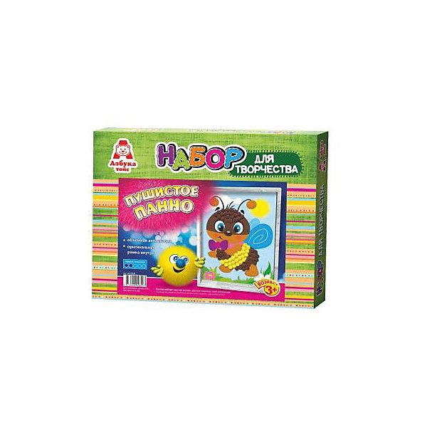 Аппликация помпонами ПчелкаБумага<br>Аппликация помпонами Пчелка.<br><br>Характеристики:<br><br>- Для детей от 3 лет<br>- В наборе: цветная основа, цветные помпоны, клей, оригинальная рамка, инструкция<br>- Изготовитель: ООО Азбука Тойс<br>- Страна производитель: Россия<br>- Размер упаковки: 27х3х22 см.<br>- Вес: 126 гр.<br><br>Набор для создания объемной аппликации из маленьких разноцветных помпонов, которые нужно с помощью клея приклеивать к рисунку-схеме с изображением пчелки, надолго увлечет вашего малыша и не позволит ему скучать. А готовый шедевр, вставленный в оригинальную рамочку, станет чудесным украшением интерьера или замечательным подарком для друзей и родных. Аппликация помпонами - интересное и увлекательное занятие, полезное для развития. Оно поможет повысить самооценку ребенка, уверенность в его силах и возможностях. Так же занятие аппликацией способствует развитию творчества и фантазии, цветового восприятия, мелкой моторики рук. Цветные мягкие помпончики познакомят ребенка с основными цветами, помогут развить тактильные ощущения и научат располагать одинаковые формы по контуру рисунка.<br><br>Набор Аппликация помпонами Пчелка можно купить в нашем интернет-магазине.<br>Ширина мм: 270; Глубина мм: 30; Высота мм: 220; Вес г: 126; Возраст от месяцев: 36; Возраст до месяцев: 84; Пол: Женский; Возраст: Детский; SKU: 5062925;