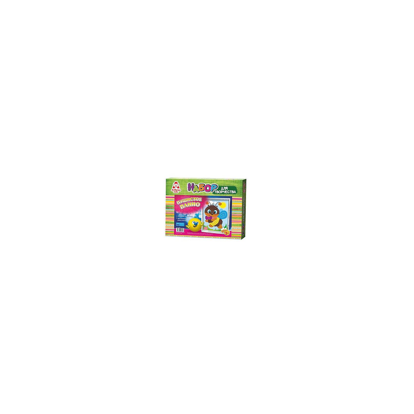Аппликация помпонами ПчелкаРукоделие<br>Аппликация помпонами Пчелка.<br><br>Характеристики:<br><br>- Для детей от 3 лет<br>- В наборе: цветная основа, цветные помпоны, клей, оригинальная рамка, инструкция<br>- Изготовитель: ООО Азбука Тойс<br>- Страна производитель: Россия<br>- Размер упаковки: 27х3х22 см.<br>- Вес: 126 гр.<br><br>Набор для создания объемной аппликации из маленьких разноцветных помпонов, которые нужно с помощью клея приклеивать к рисунку-схеме с изображением пчелки, надолго увлечет вашего малыша и не позволит ему скучать. А готовый шедевр, вставленный в оригинальную рамочку, станет чудесным украшением интерьера или замечательным подарком для друзей и родных. Аппликация помпонами - интересное и увлекательное занятие, полезное для развития. Оно поможет повысить самооценку ребенка, уверенность в его силах и возможностях. Так же занятие аппликацией способствует развитию творчества и фантазии, цветового восприятия, мелкой моторики рук. Цветные мягкие помпончики познакомят ребенка с основными цветами, помогут развить тактильные ощущения и научат располагать одинаковые формы по контуру рисунка.<br><br>Набор Аппликация помпонами Пчелка можно купить в нашем интернет-магазине.<br><br>Ширина мм: 270<br>Глубина мм: 30<br>Высота мм: 220<br>Вес г: 126<br>Возраст от месяцев: 36<br>Возраст до месяцев: 84<br>Пол: Женский<br>Возраст: Детский<br>SKU: 5062925