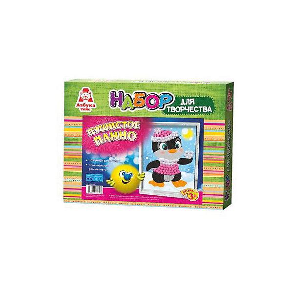 Аппликация помпонами ПингвинБумага<br>Аппликация помпонами Пингвин.<br><br>Характеристики:<br><br>- Для детей от 3 лет<br>- В наборе: цветная основа, цветные помпоны, клей, оригинальная рамка, инструкция<br>- Изготовитель: ООО Азбука Тойс<br>- Страна производитель: Россия<br>- Размер упаковки: 27х3х22 см.<br>- Вес: 126 гр.<br><br>Набор для создания объемной аппликации из маленьких разноцветных помпонов, которые нужно с помощью клея приклеивать к рисунку-схеме с изображением пингвина, надолго увлечет вашего малыша и не позволит ему скучать. А готовый шедевр, вставленный в оригинальную рамочку, станет чудесным украшением интерьера или замечательным подарком для друзей и родных. Аппликация помпонами - интересное и увлекательное занятие, полезное для развития. Оно поможет повысить самооценку ребенка, уверенность в его силах и возможностях. Так же занятие аппликацией способствует развитию творчества и фантазии, цветового восприятия, мелкой моторики рук. Цветные мягкие помпончики познакомят ребенка с основными цветами, помогут развить тактильные ощущения и научат располагать одинаковые формы по контуру рисунка.<br><br>Набор Аппликация помпонами Пингвин можно купить в нашем интернет-магазине.<br>Ширина мм: 270; Глубина мм: 30; Высота мм: 220; Вес г: 126; Возраст от месяцев: 36; Возраст до месяцев: 84; Пол: Унисекс; Возраст: Детский; SKU: 5062926;