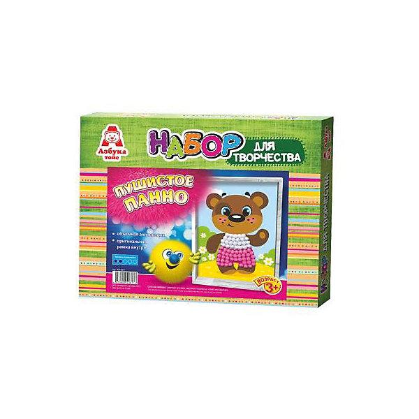 Аппликация помпонами МишкаБумага<br>Аппликация помпонами Мишка.<br><br>Характеристики:<br><br>- Для детей от 3 лет<br>- В наборе: цветная основа, цветные помпоны, клей, оригинальная рамка, инструкция<br>- Изготовитель: ООО Азбука Тойс<br>- Страна производитель: Россия<br>- Размер упаковки: 27х3х22 см.<br>- Вес: 126 гр.<br><br>Набор для создания объемной аппликации из маленьких разноцветных помпонов, которые нужно с помощью клея приклеивать к рисунку-схеме с изображением медвежонка, надолго увлечет вашего малыша и не позволит ему скучать. А готовый шедевр, вставленный в оригинальную рамочку, станет чудесным украшением интерьера или замечательным подарком для друзей и родных. Аппликация помпонами - интересное и увлекательное занятие, полезное для развития. Оно поможет повысить самооценку ребенка, уверенность в его силах и возможностях. Так же занятие аппликацией способствует развитию творчества и фантазии, цветового восприятия, мелкой моторики рук. Цветные мягкие помпончики познакомят ребенка с основными цветами, помогут развить тактильные ощущения и научат располагать одинаковые формы по контуру рисунка.<br><br>Набор Аппликация помпонами Мишка можно купить в нашем интернет-магазине.<br>Ширина мм: 270; Глубина мм: 30; Высота мм: 220; Вес г: 126; Возраст от месяцев: 36; Возраст до месяцев: 84; Пол: Унисекс; Возраст: Детский; SKU: 5062927;