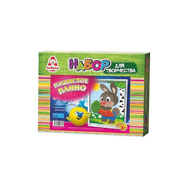 Аппликация помпонами ЗайкаБумага<br>Аппликация помпонами Зайка.<br><br>Характеристики:<br><br>- Для детей от 3 лет<br>- В наборе: цветная основа, цветные помпоны, клей, оригинальная рамка, инструкция<br>- Изготовитель: ООО Азбука Тойс<br>- Страна производитель: Россия<br>- Размер упаковки: 27х3х22 см.<br>- Вес: 126 гр.<br><br>Набор для создания объемной аппликации из маленьких разноцветных помпонов, которые нужно с помощью клея приклеивать к рисунку-схеме с изображением зайчика, надолго увлечет вашего малыша и не позволит ему скучать. А готовый шедевр, вставленный в оригинальную рамочку, станет чудесным украшением интерьера или замечательным подарком для друзей и родных. Аппликация помпонами - интересное и увлекательное занятие, полезное для развития. Оно поможет повысить самооценку ребенка, уверенность в его силах и возможностях. Так же занятие аппликацией способствует развитию творчества и фантазии, цветового восприятия, мелкой моторики рук. Цветные мягкие помпончики познакомят ребенка с основными цветами, помогут развить тактильные ощущения и научат располагать одинаковые формы по контуру рисунка.<br><br>Набор Аппликация помпонами Зайка можно купить в нашем интернет-магазине.<br><br>Ширина мм: 270<br>Глубина мм: 30<br>Высота мм: 220<br>Вес г: 126<br>Возраст от месяцев: 36<br>Возраст до месяцев: 84<br>Пол: Унисекс<br>Возраст: Детский<br>SKU: 5062929