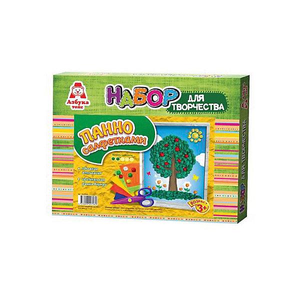 Аппликация салфетками ДеревоБумага<br>Аппликация салфетками Дерево<br><br>Характеристики:<br><br>- в набор входит: основа, цветные салфетки, кисть, клей ПВА, рамка<br>- состав: картон, бумага, пластик <br>- формат: 27 * 3 * 22 см.<br>- вес: 116 гр.<br>- для детей в возрасте: от 3 до 6 лет<br>- Страна производитель: Российская Федерация<br><br>Набор для творчества Аппликация салфетками Дерево от компании Азбука тойс понравится маленьким пальчиками и создаст яркое летнее настроение. Пошаговая инструкция подробно описывает процесс выполнения аппликации. Шарики из салфеток клеятся на цветную основу с помощью клея, входящего в комплект. Работа с таким набором развивает моторику ручек, воображение, усидчивость, аккуратность и внимание. Панно из салфеток имеет второй уровень сложности, но его выполнить ничуть не трудно, поэтому ребенок вскоре сможет порадоваться своему небольшому шедевру и, может быть, даже подарить его кому-нибудь. Красивая рамка входит в комплект.<br><br>Аппликацию салфетками Дерево можно купить в нашем интернет-магазине.<br><br>Ширина мм: 270<br>Глубина мм: 30<br>Высота мм: 220<br>Вес г: 116<br>Возраст от месяцев: 36<br>Возраст до месяцев: 84<br>Пол: Унисекс<br>Возраст: Детский<br>SKU: 5062943