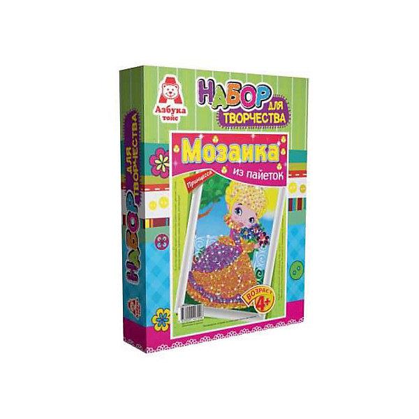 Картина из пайеток ПринцессаМозаика детская<br>Картина из пайеток Принцесса.  <br><br>Характеристики:<br><br>• Размеры 28х21х5 см.<br>• В комплект входит:<br>- пенопластовая основа,<br>- цветная схема,<br>- сборная рамка;<br>- пайетки,<br>- пины - гвоздики,<br>- инструкция.<br><br>Пайетки - это блестящие кружочки разного цвета, при помощи которых, можно создавать красивые блестящие картины в виде мозаики Пайетка прикалывается к основе при помощи булавочки-гвоздика. Занятие с набором Мозаика из пайеток развивает творческие способности, воображение, концентрацию внимания, мелкую моторику, аккуратность и усидчивость. Такая картина станет украшением вашего дома или станет прекрасным подарком. Желаем Вам приятной творческой работы!<br><br>Картину из пайеток Принцесса, можно купить в нашем интернет – магазине.<br><br>Ширина мм: 210<br>Глубина мм: 50<br>Высота мм: 280<br>Вес г: 128<br>Возраст от месяцев: 48<br>Возраст до месяцев: 108<br>Пол: Женский<br>Возраст: Детский<br>SKU: 5062961