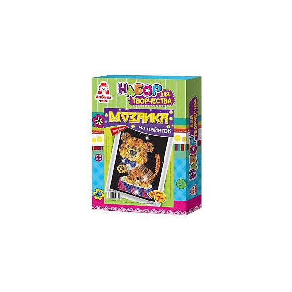 Картина из пайеток ТигрМозаика детская<br>Картина из пайеток Тигр, Азбука Тойс.<br><br>Характеристики:<br><br>• готовой поделкой можно украсить комнату<br>• развивает мелкую моторику, внимательность, усидчивость и аккуратность<br>• в комплекте: основа из пенопласта, схема, сборная рамка, пайетки, гвоздики, инструкция<br>• размер упаковки: 28х5х21 см<br>• вес: 184 грамма<br><br>Создание картин из пайеток - очень увлекательный вид творчества для детей. Он поможет развить усидчивость, мелкую моторику, внимательность и аккуратность. С помощью набора Тигр ребенок сможет создать яркую картину своими руками. Для это нужно приколоть пайетки к основе с помощью специальных гвоздиков. Готовую работу можно поместить в рамочку, входящую в комплект и украсить ею свою комнату.<br><br>Вы можете купить картину из пайеток Тигр, Азбука Тойс в нашем интернет-магазине.<br><br>Ширина мм: 210<br>Глубина мм: 50<br>Высота мм: 280<br>Вес г: 184<br>Возраст от месяцев: 84<br>Возраст до месяцев: 144<br>Пол: Женский<br>Возраст: Детский<br>SKU: 5062972