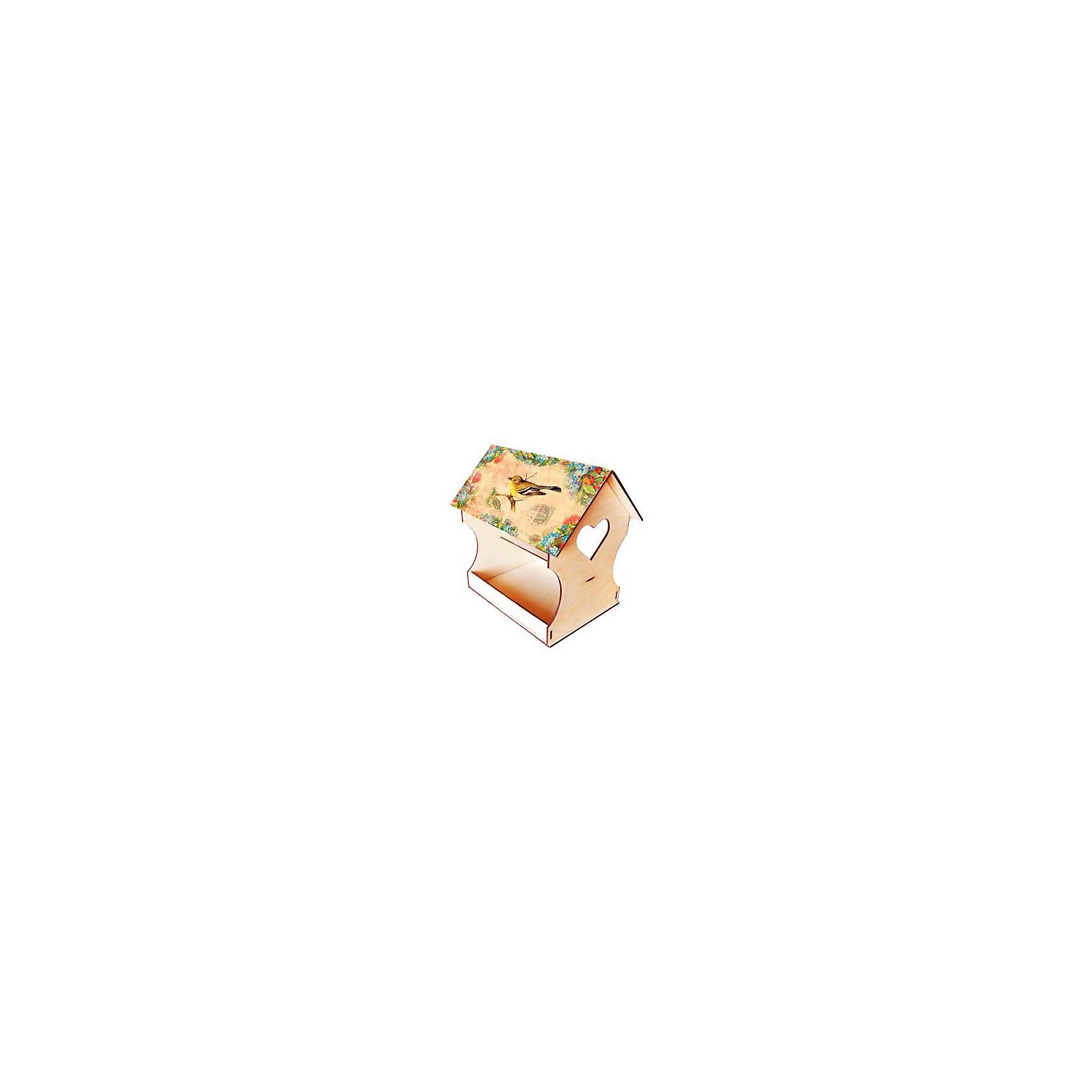 Кормушка для птиц  ДекупажРукоделие<br>Кормушка для птиц Декупаж, Азбука Тойс<br><br>Характеристики:<br><br>• красивый дизайн готовой кормушки<br>• легко собрать<br>• в комплекте: заготовка из дерева, декупажная карта, белая акриловая краска, коричневая акриловая краска, клей ПВА, файл, кисть, спонж, наждачная бумага, шнур, перчатки инструкция<br>• размер упаковки: 28х5х21 см<br>• вес: 400 грамм<br><br>Забота о природе очень важна в любом возрасте. С помощью набора Декупаж вы сможете помочь ребенку создать красивую кормушку для птиц. В набор входит всё необходимое для этого. Крышу кормушки украсит картинка с изображением птичек. В комплекте вы найдете прочный шнур, на который можно повесить готовую кормушку. Научите ребенка творить добро!<br><br>Вы можете купить кормушку для птиц Декупаж, Азбука Тойс в нашем интернет-магазине.<br><br>Ширина мм: 210<br>Глубина мм: 50<br>Высота мм: 280<br>Вес г: 400<br>Возраст от месяцев: 84<br>Возраст до месяцев: 144<br>Пол: Унисекс<br>Возраст: Детский<br>SKU: 5062975